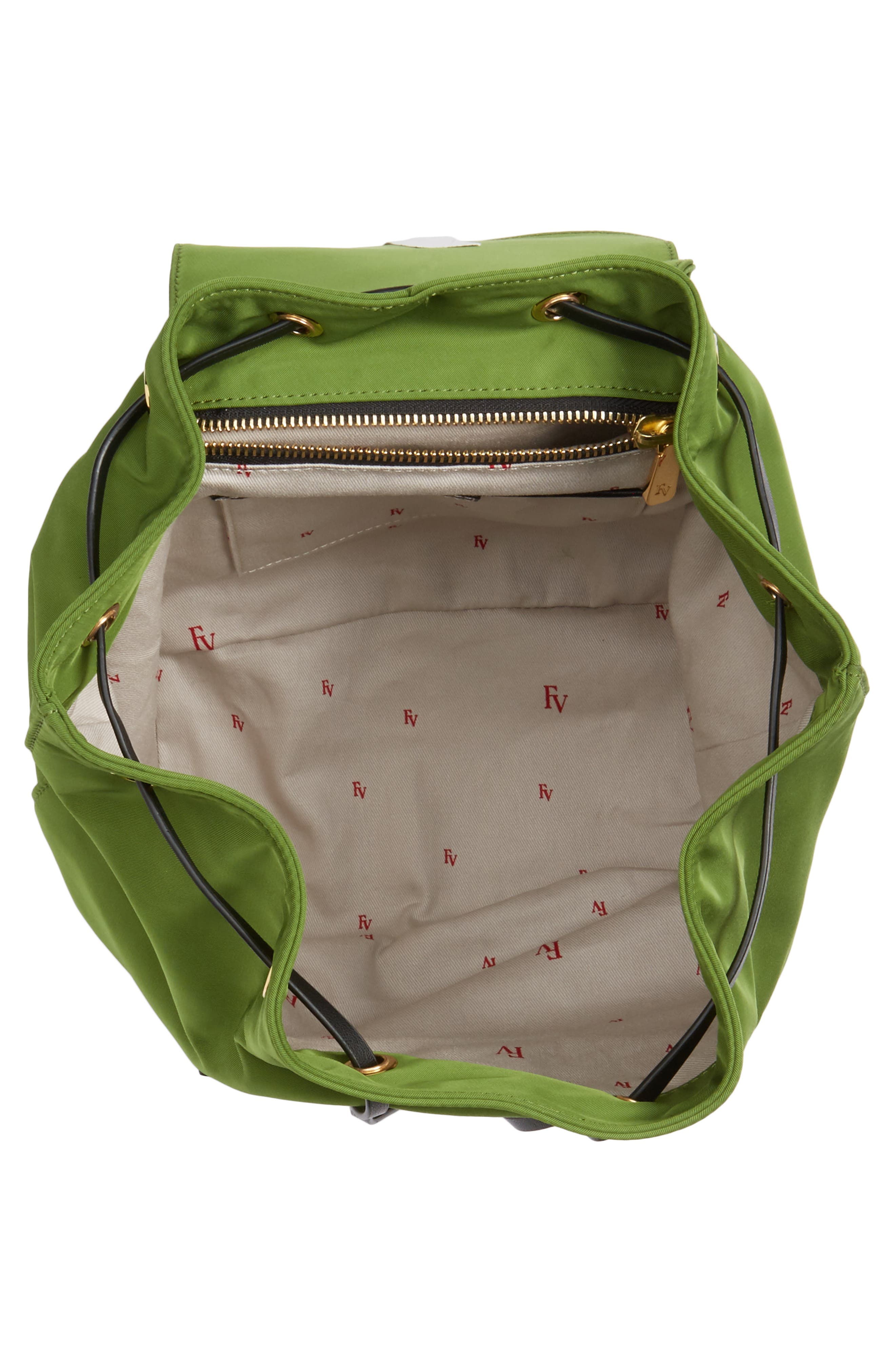 Nylon Backpack,                             Alternate thumbnail 3, color,                             Grass