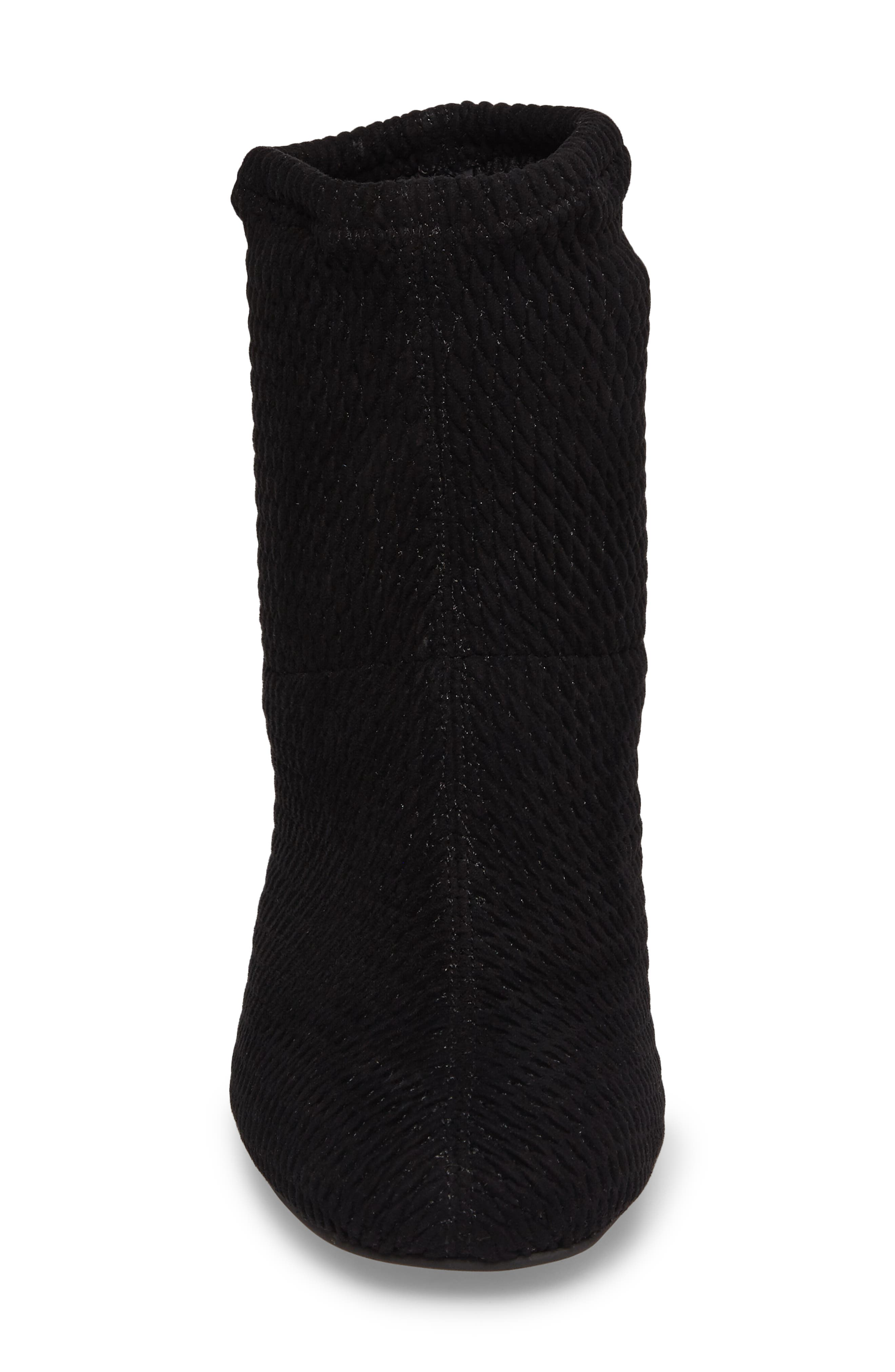 Ad Lib Sock Bootie,                             Alternate thumbnail 4, color,                             Black Fabric