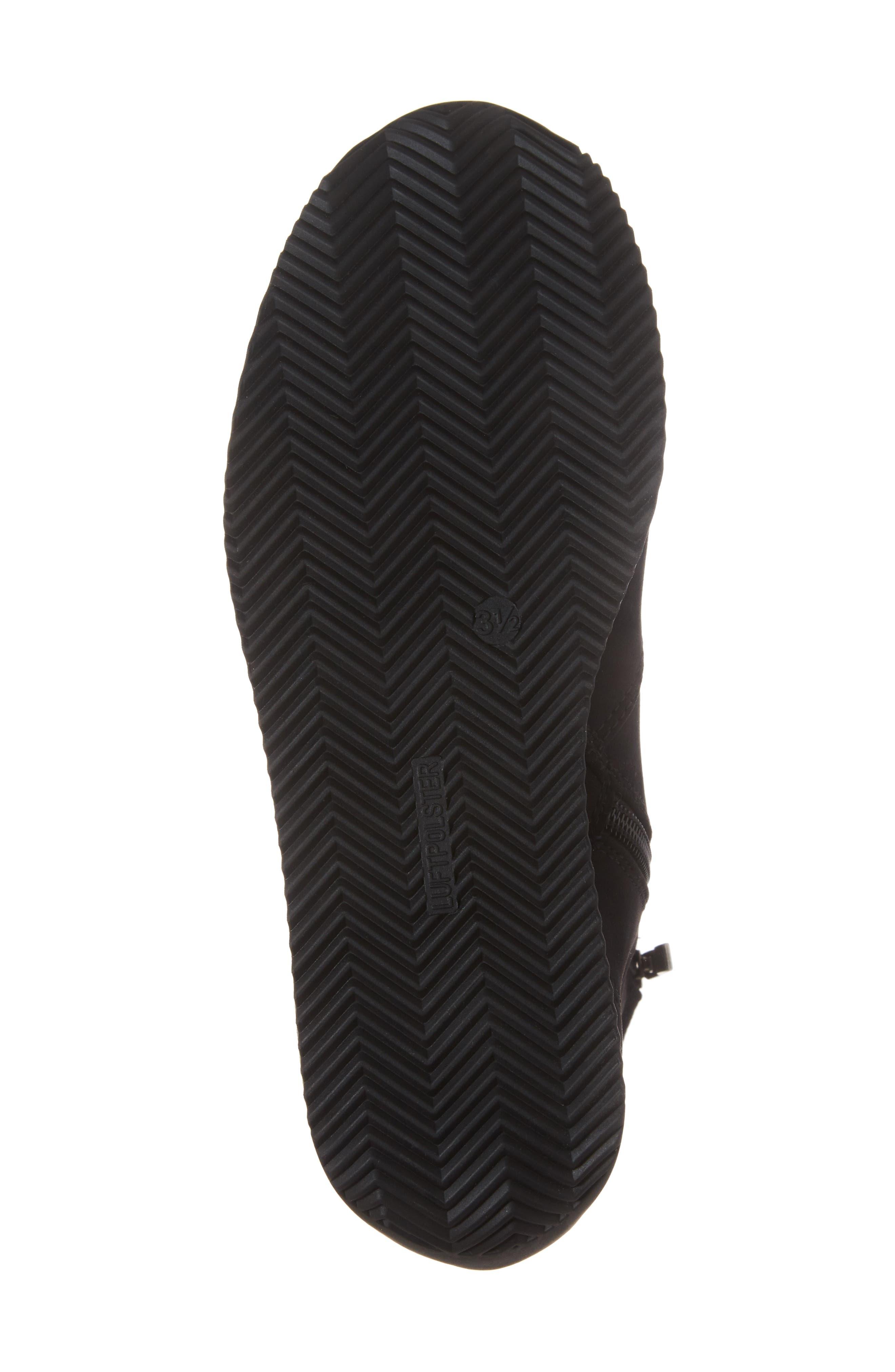 Luella Waterproof Gore-Tex<sup>®</sup> Boot,                             Alternate thumbnail 6, color,                             Black Textile