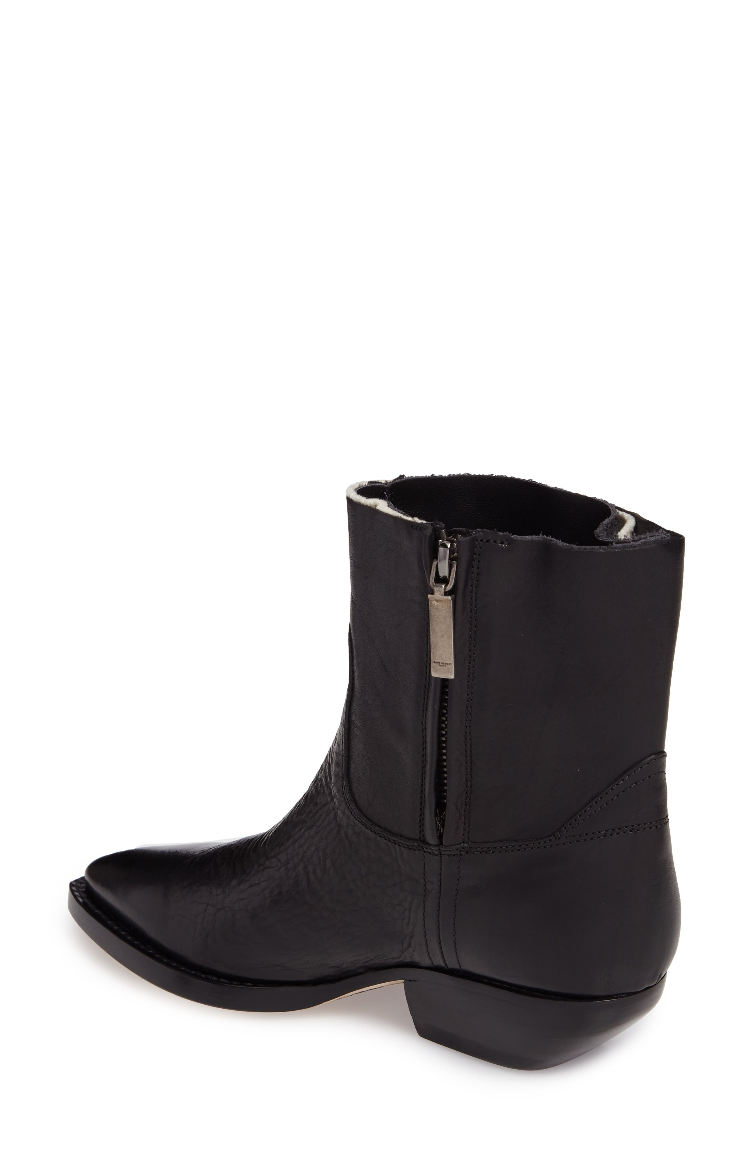 Theo Eli Western Bootie,                             Alternate thumbnail 2, color,                             Black