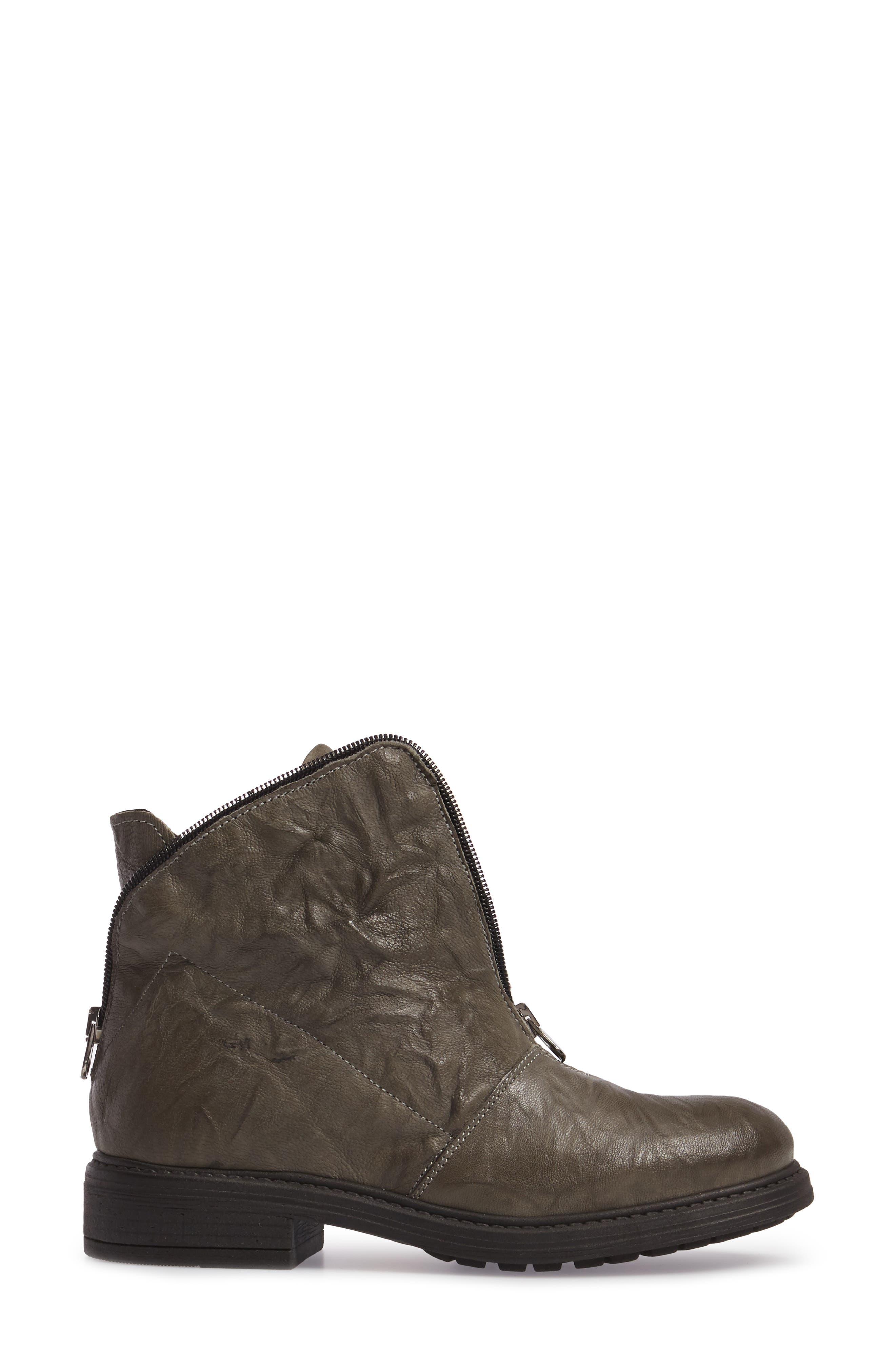 Sheridan Bling Bootie,                             Alternate thumbnail 3, color,                             Charcoal Leather