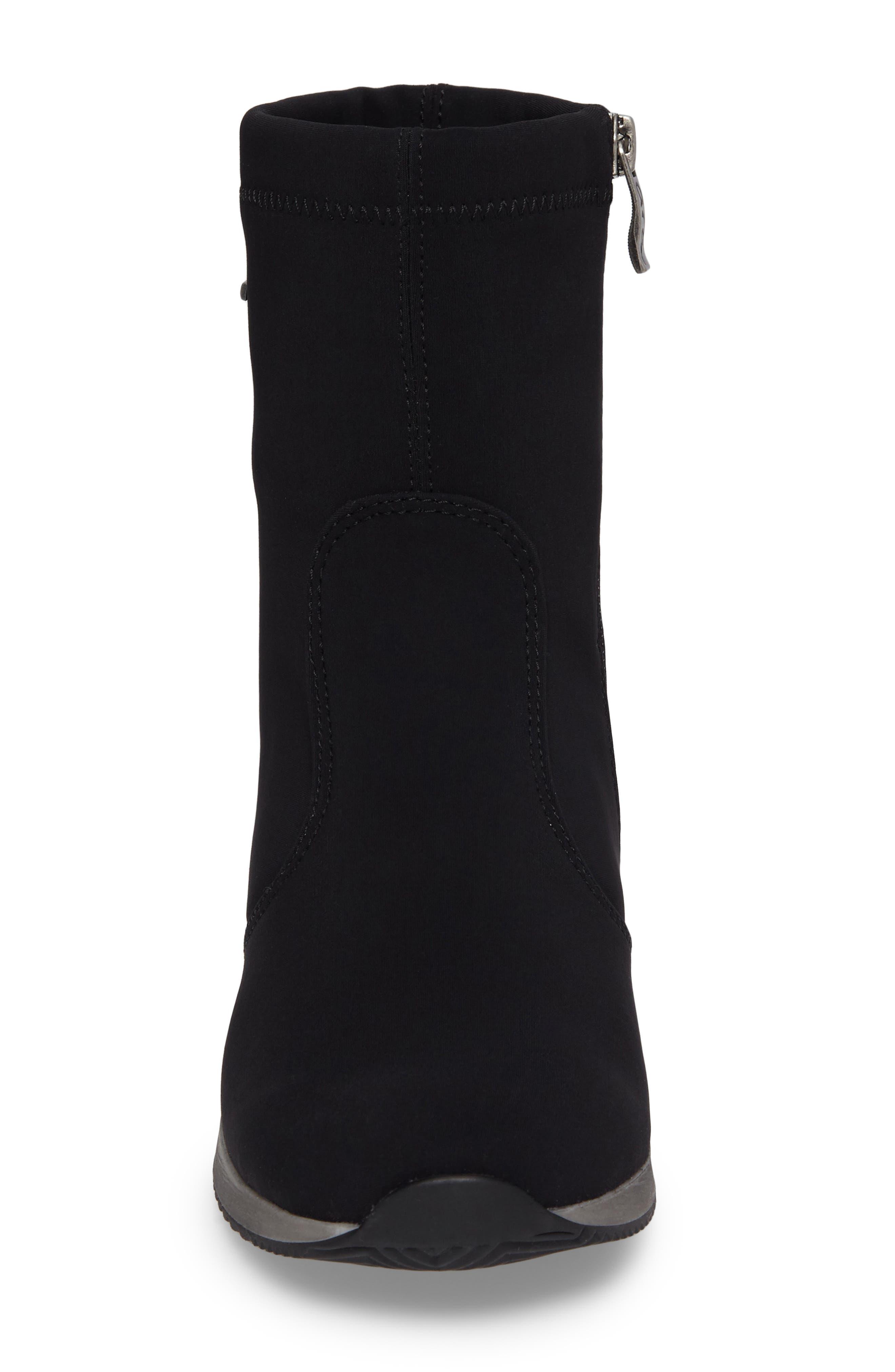 Luella Waterproof Gore-Tex<sup>®</sup> Boot,                             Alternate thumbnail 4, color,                             Black Textile