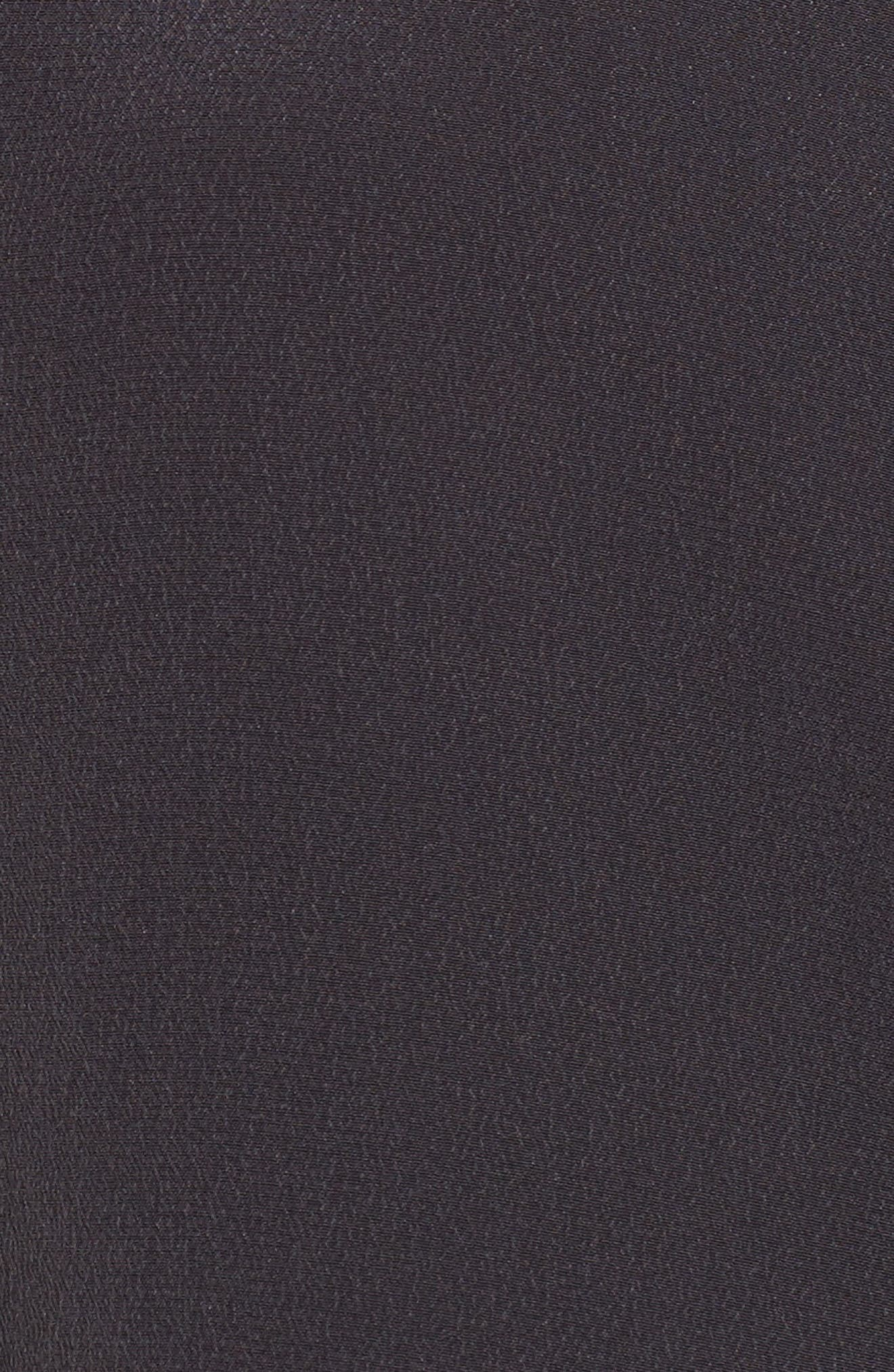 Kate Silk Shirt,                             Alternate thumbnail 5, color,                             Charcoal
