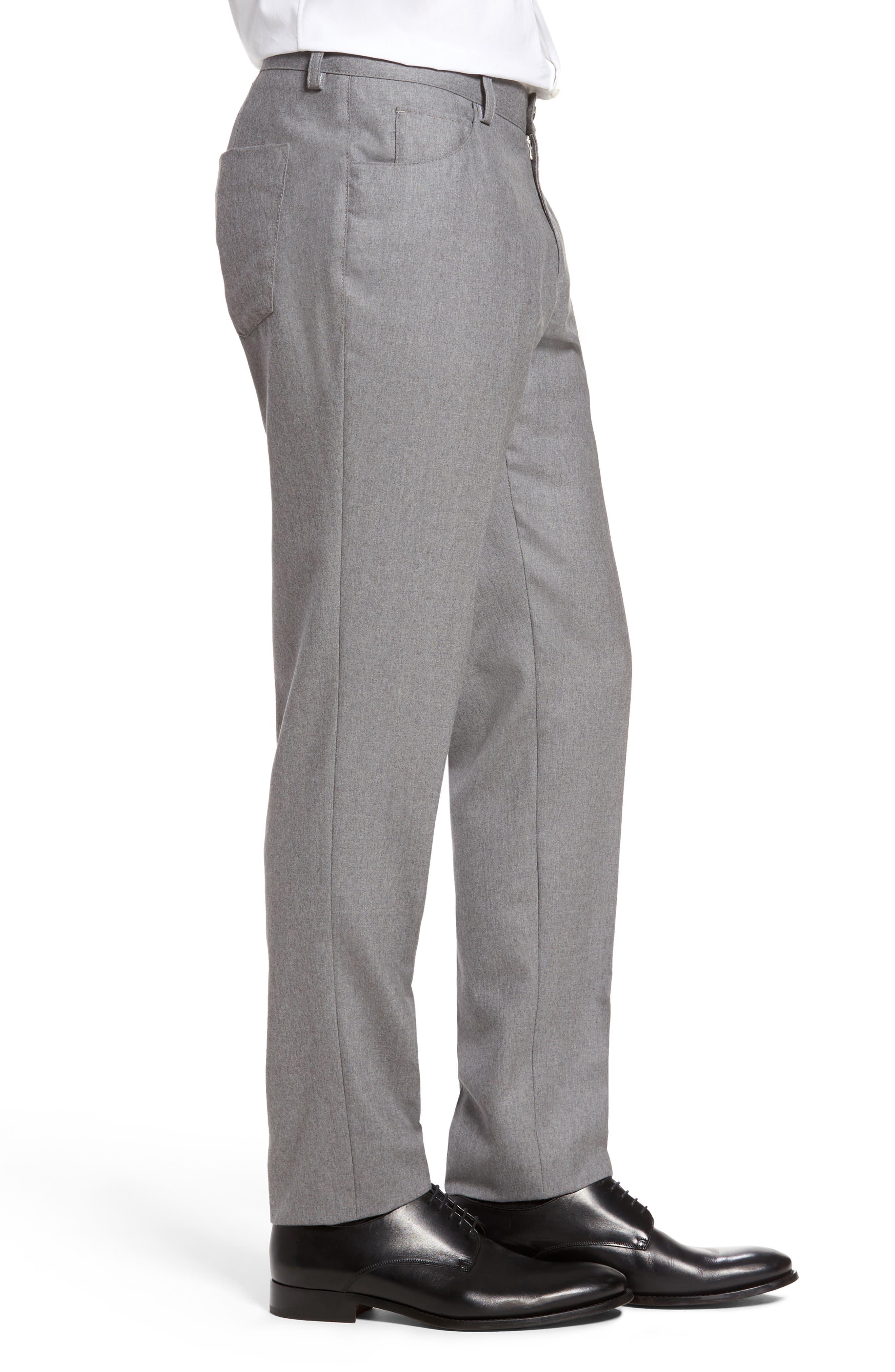 Alternate Image 4  - BOSS Gaetano Regular Fit Wool Trousers