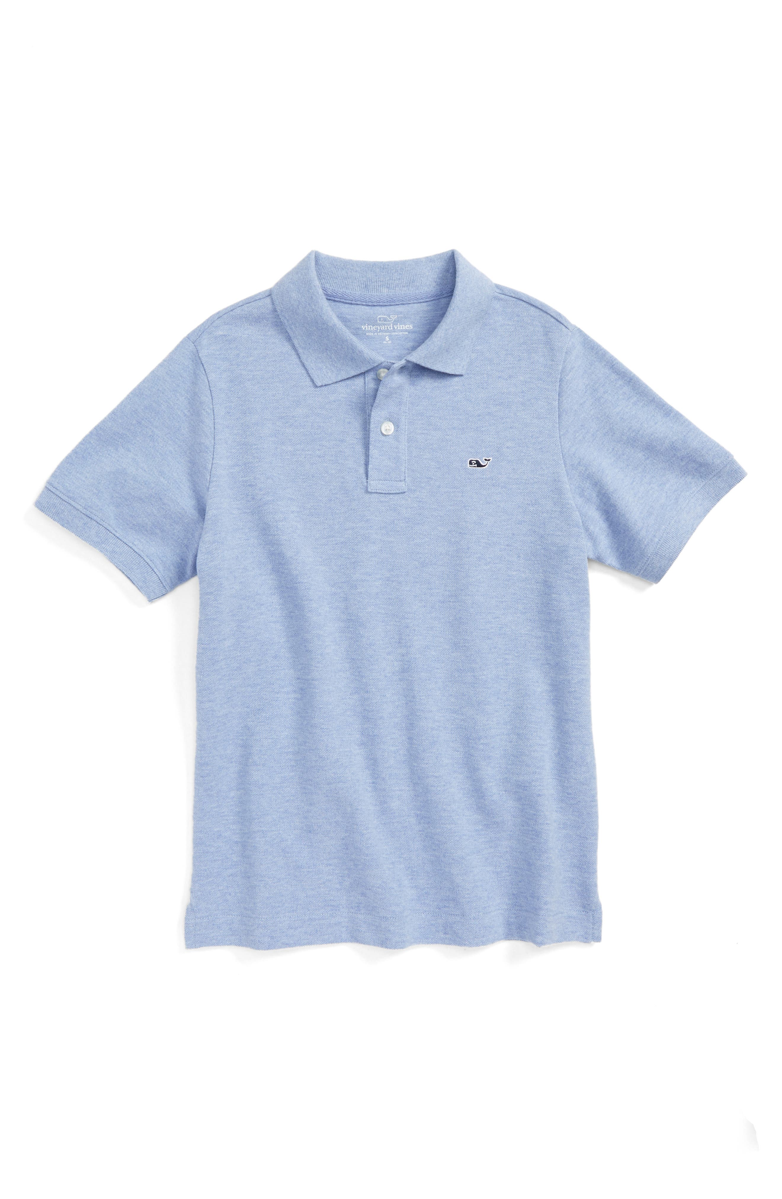 Classic Piqué Polo,                         Main,                         color, Dockside Blue