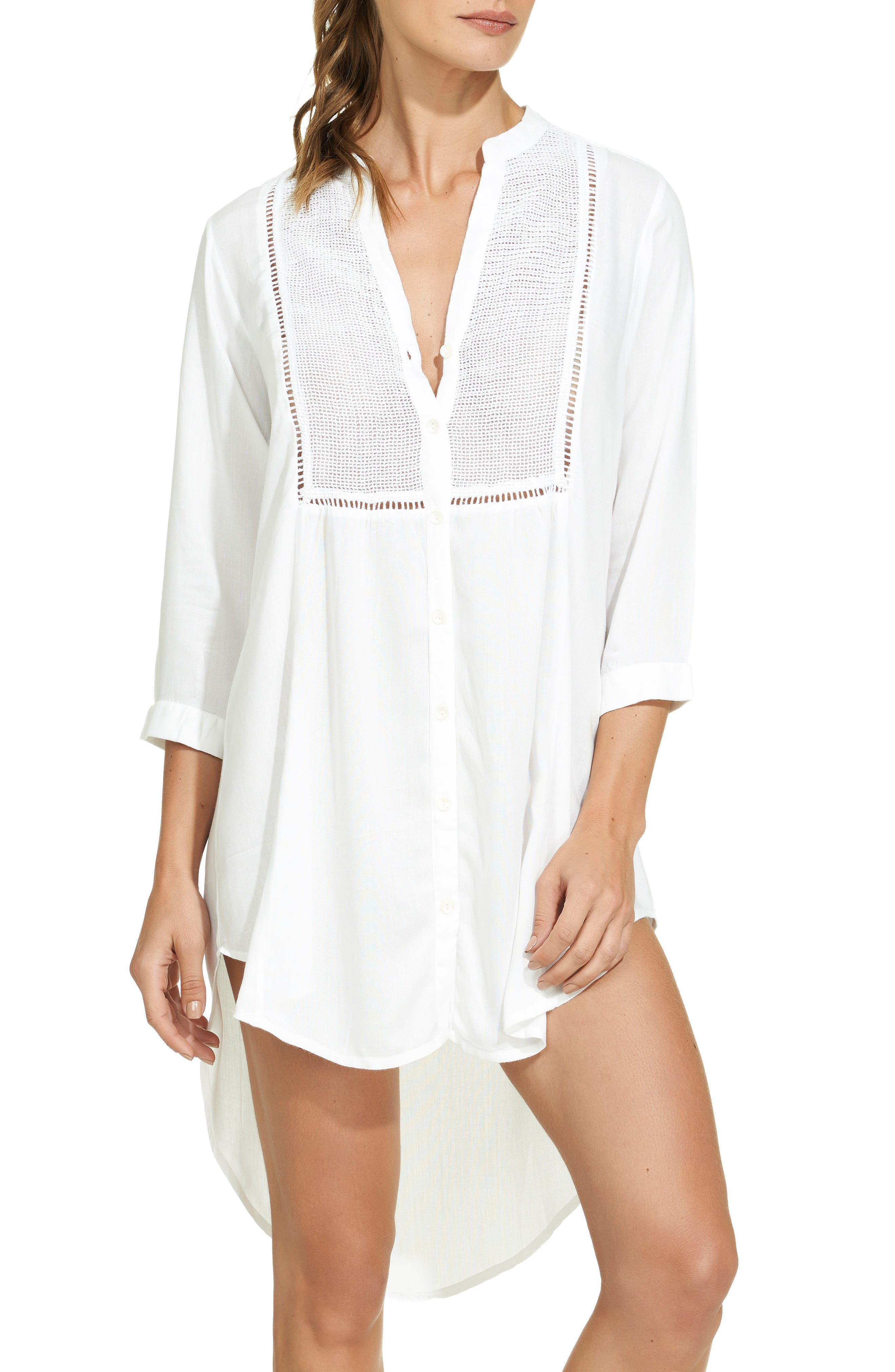 Main Image - ViX Swimwear Solid Chemise Cover-Up