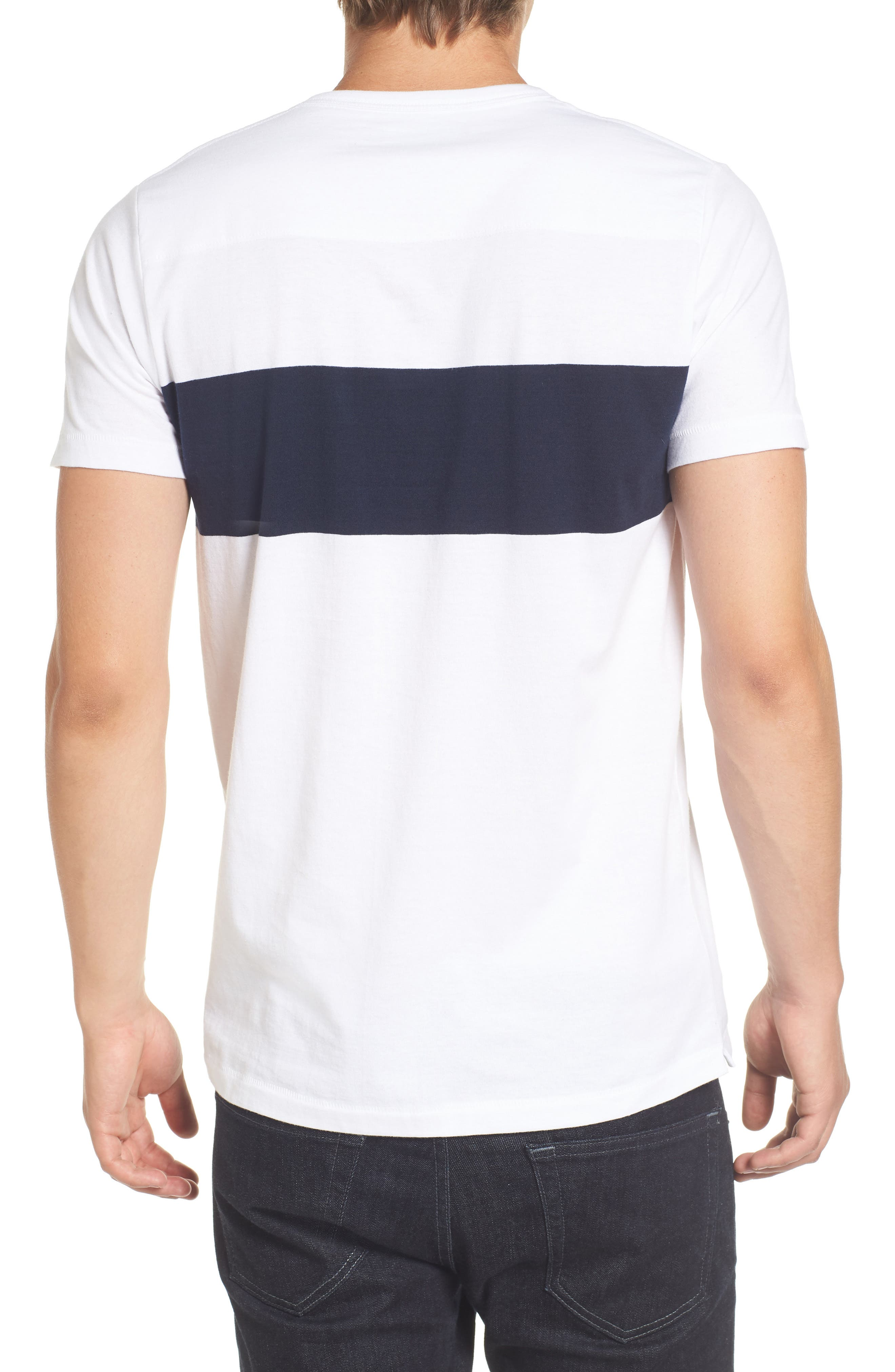 Colorblock Pocket T-Shirt,                             Alternate thumbnail 2, color,                             White/ Marine