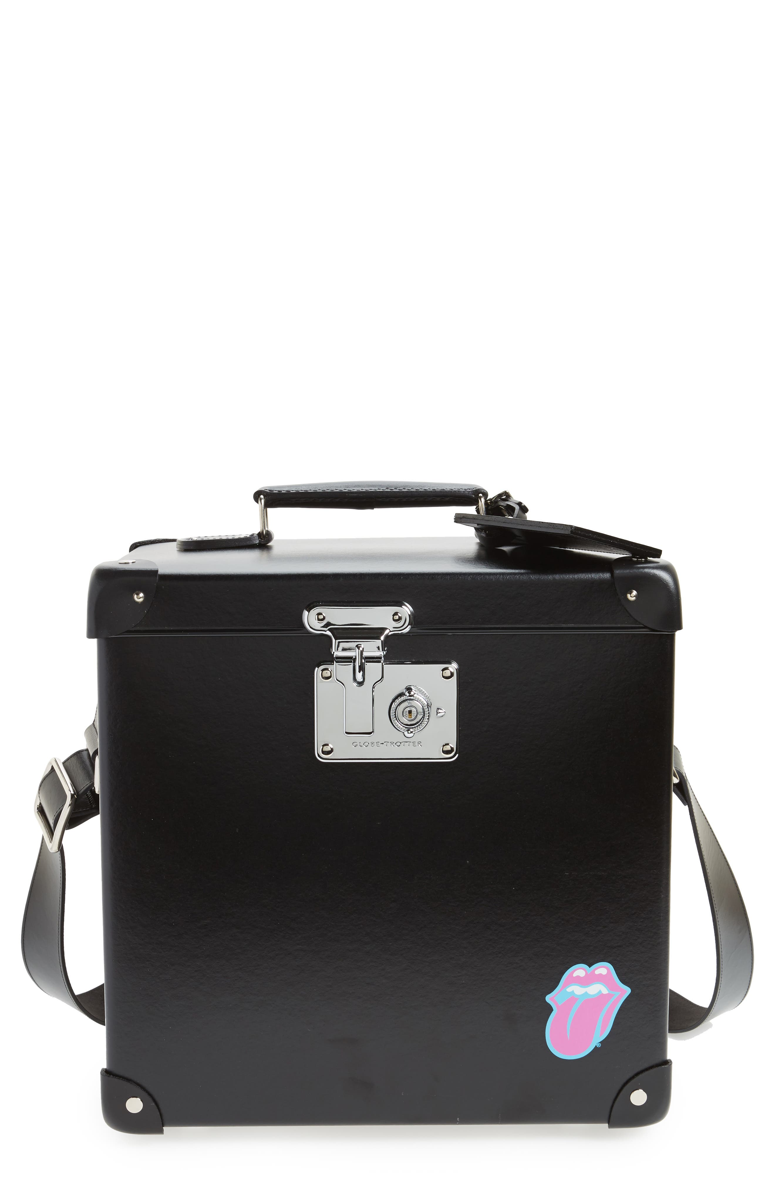 The Rolling Stones 12-Inch Hardshell Record Case,                         Main,                         color, Black/ Black