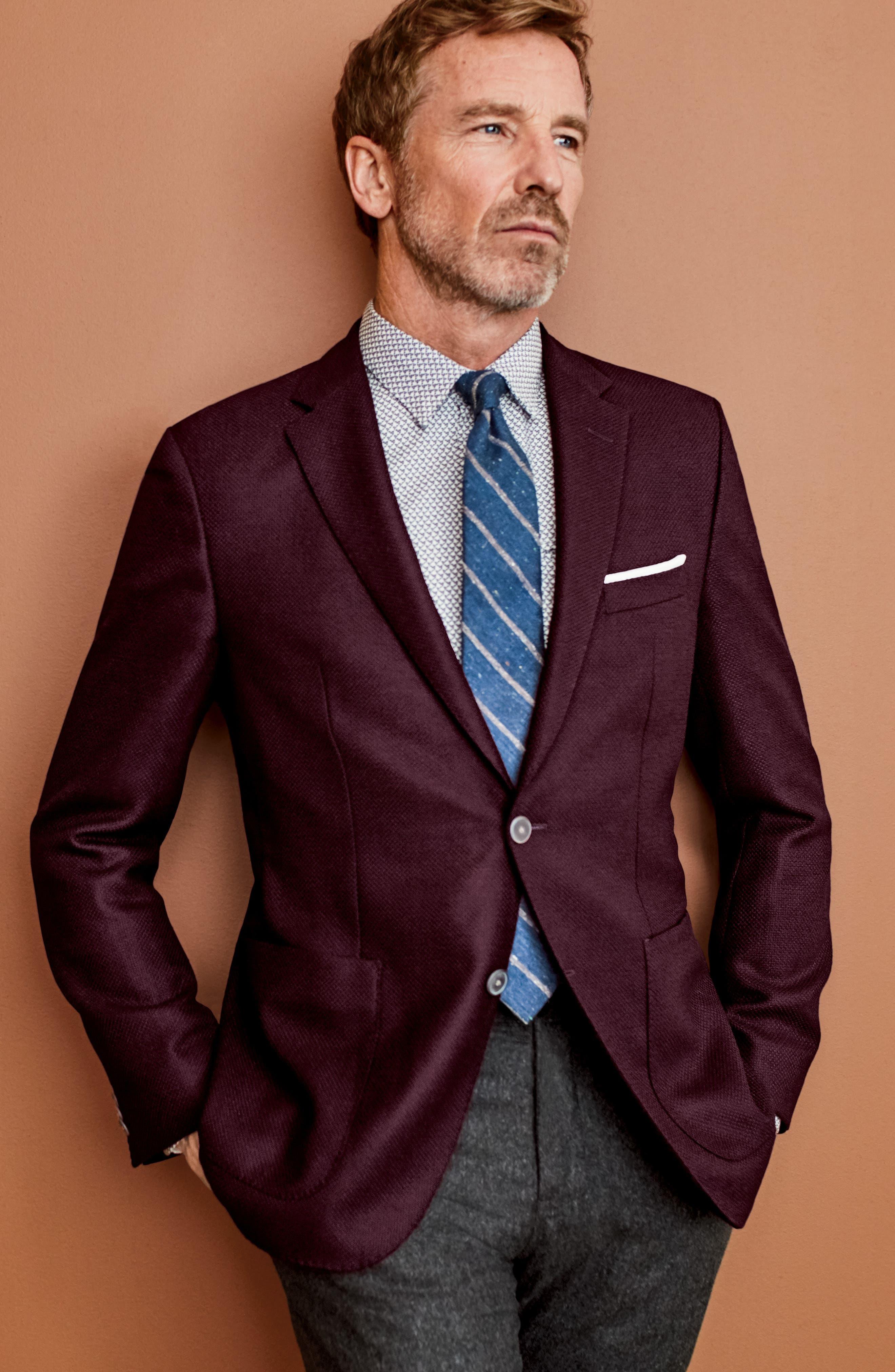 Alternate Image 7  - BOSS Janson Trim Fit Wool Blazer
