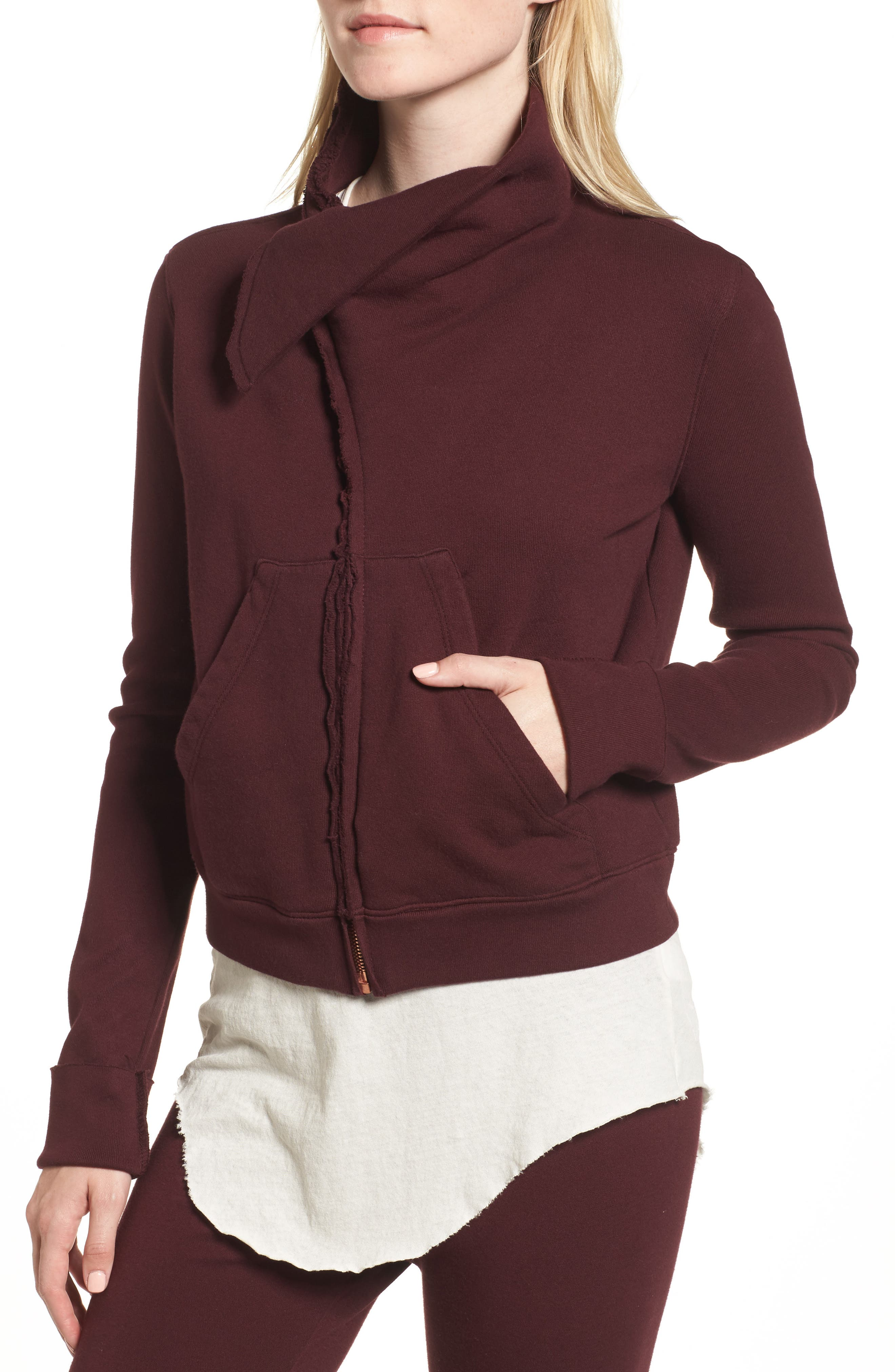 Zip Fleece Jacket,                             Alternate thumbnail 4, color,                             Vamp