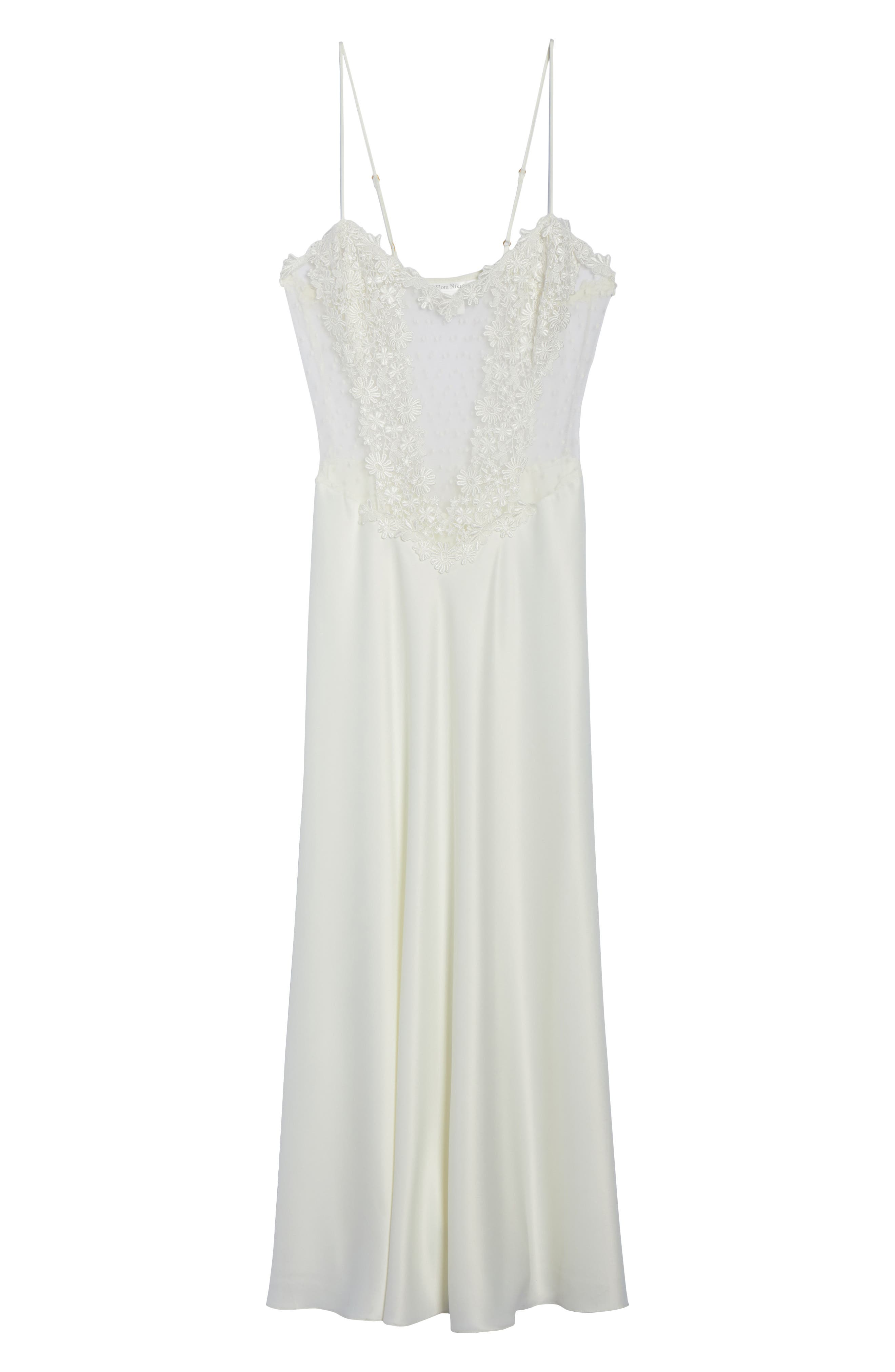 Showstopper Nightgown,                             Alternate thumbnail 6, color,                             Ivory
