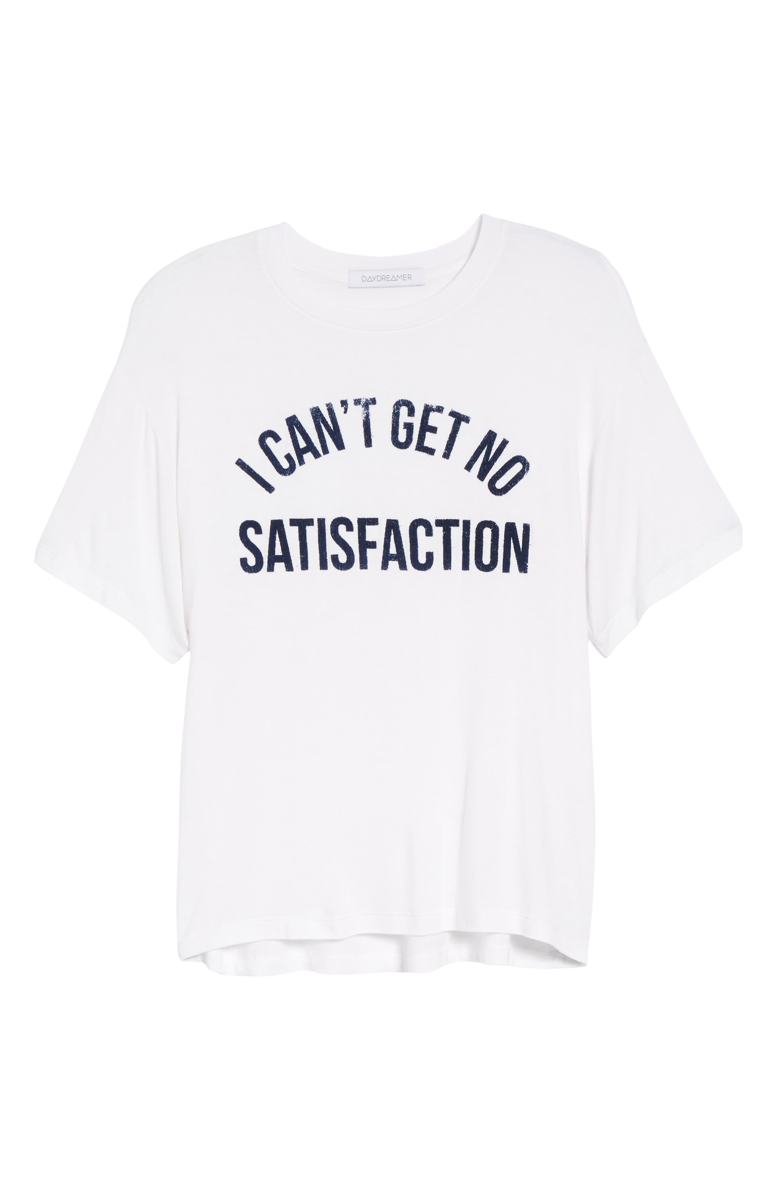 No Satisfaction Graphic Tee,                             Alternate thumbnail 6, color,                             White