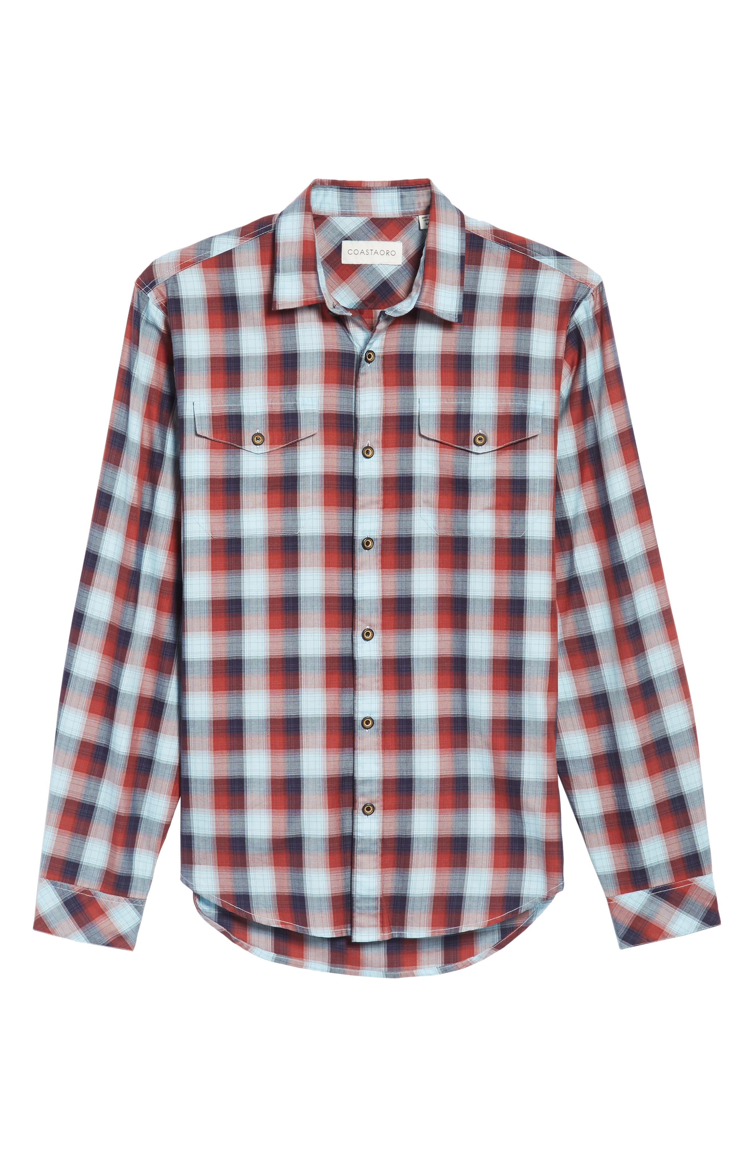 Alternate Image 6  - Coastaoro Redford Check Flannel Shirt