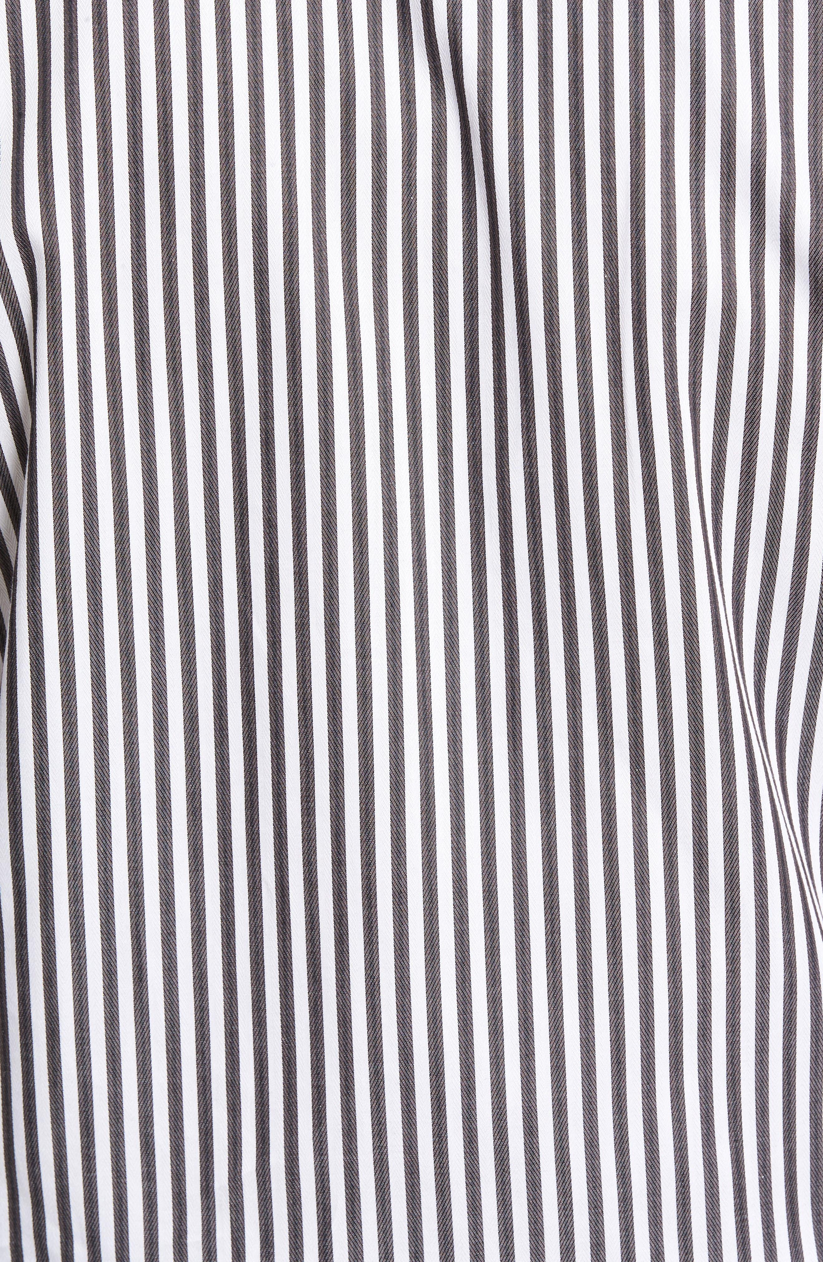 Alternate Image 5  - Thomas Dean Regular Fit Stripe Herringbone Sport Shirt