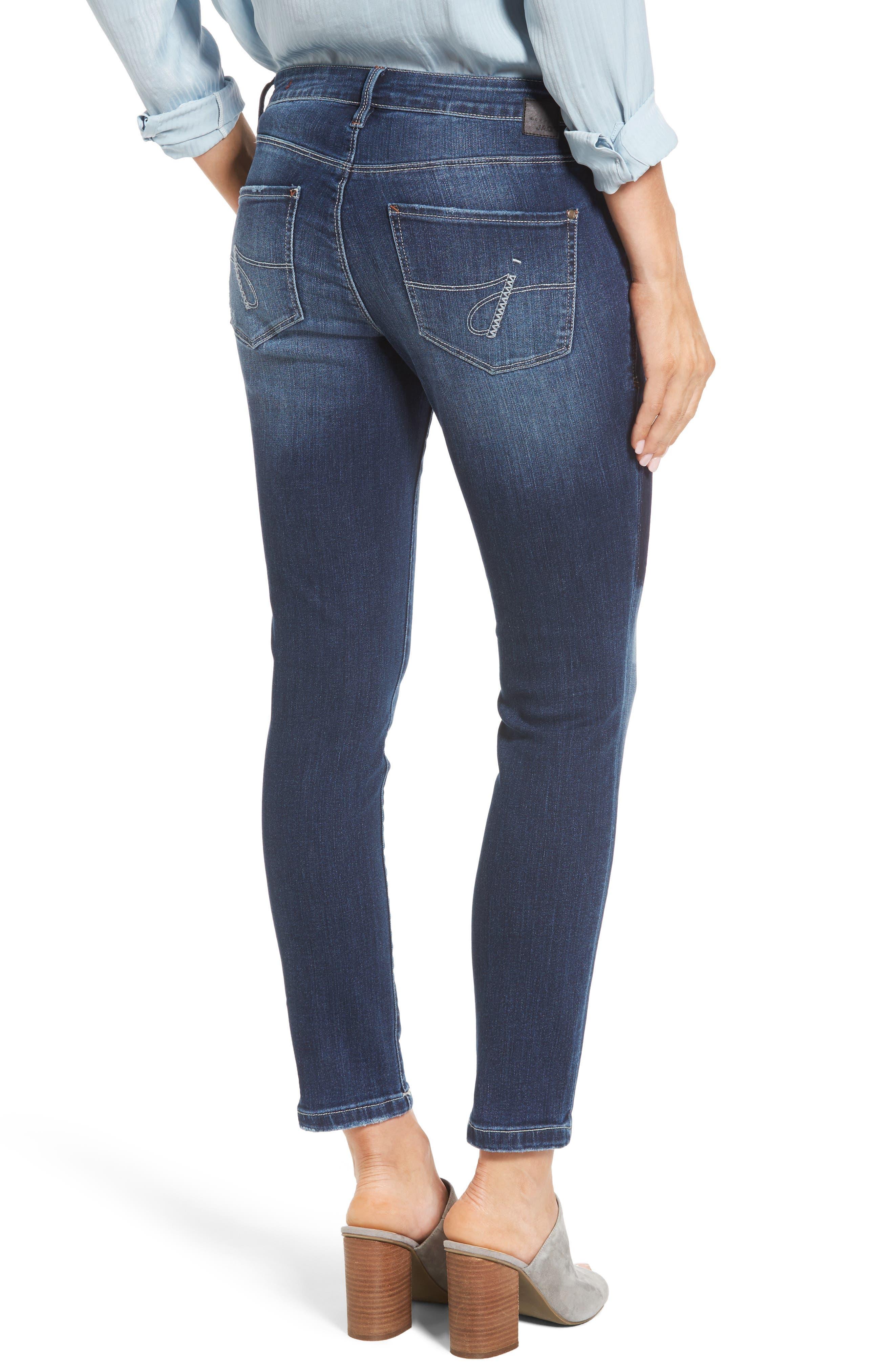 Mera Skinny Ankle Jeans,                             Alternate thumbnail 2, color,                             Bucket Blue