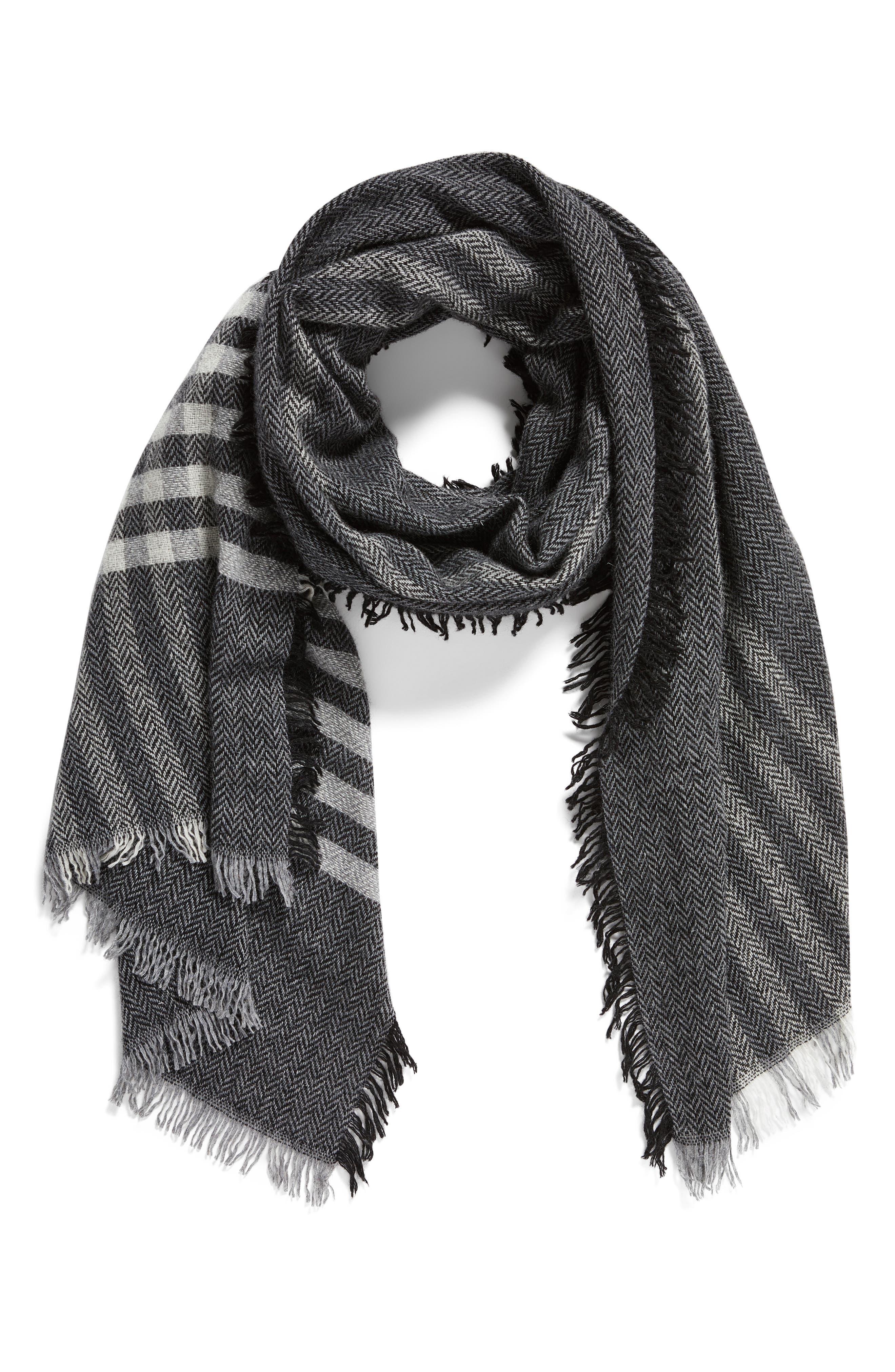 Alternate Image 4  - Eileen Fisher Plaid Wool Blend Scarf