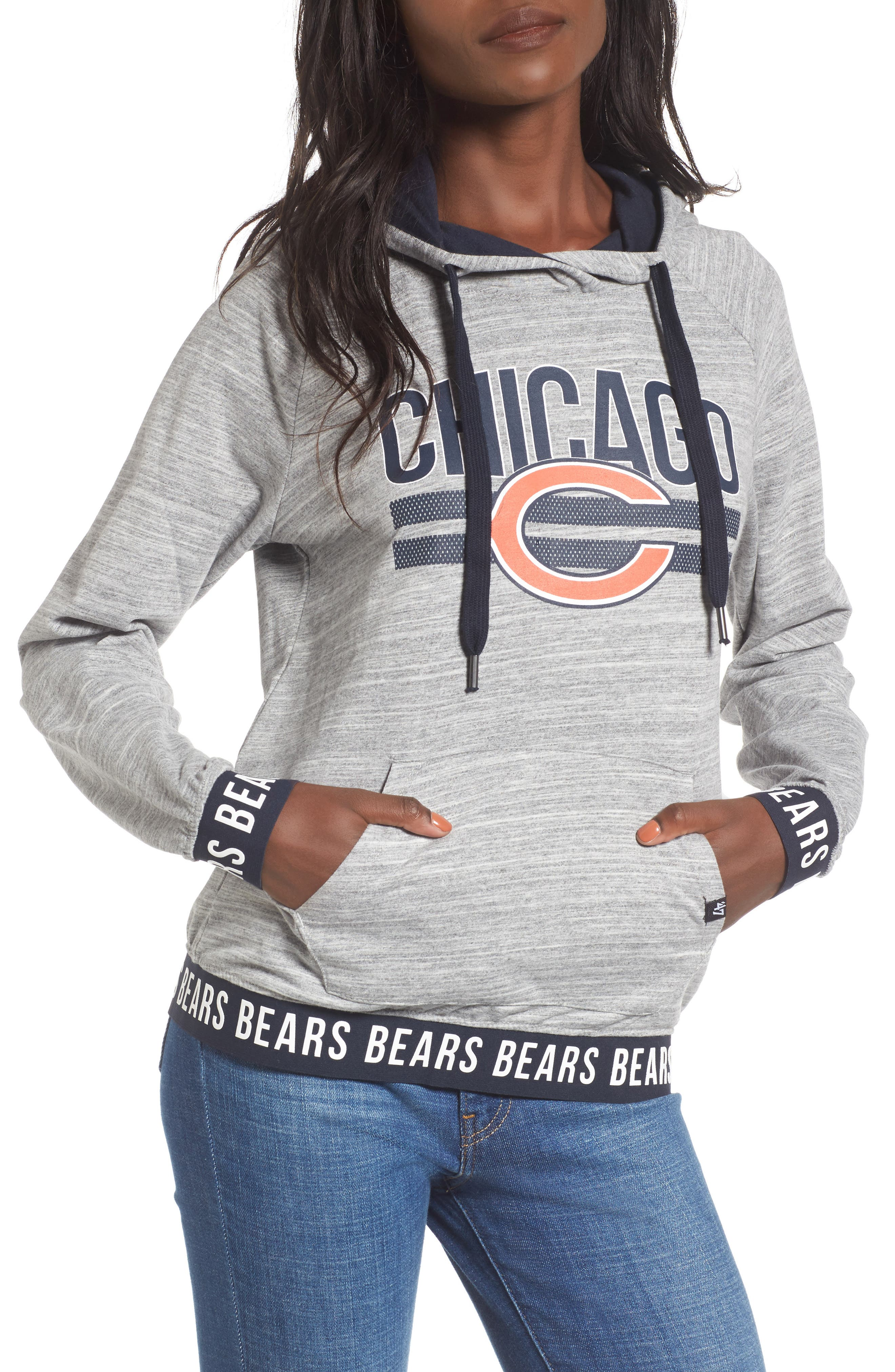 Revolve - Chicago Bears Hoodie,                         Main,                         color, Space Dye Grey