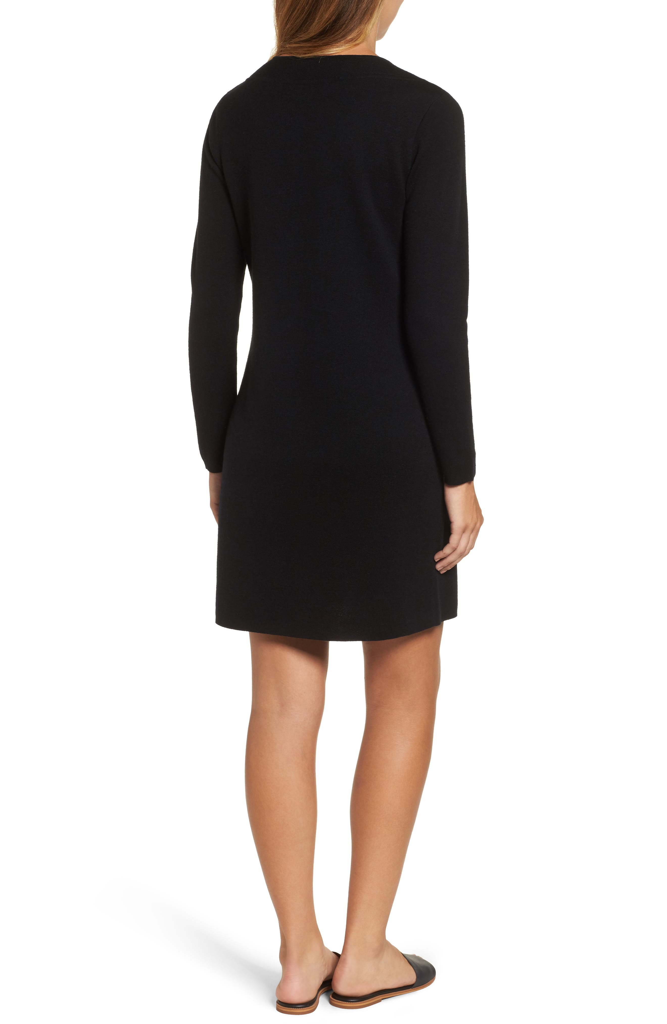 Alternate Image 2  - vineyard vines Lace-Up Sweater Dress