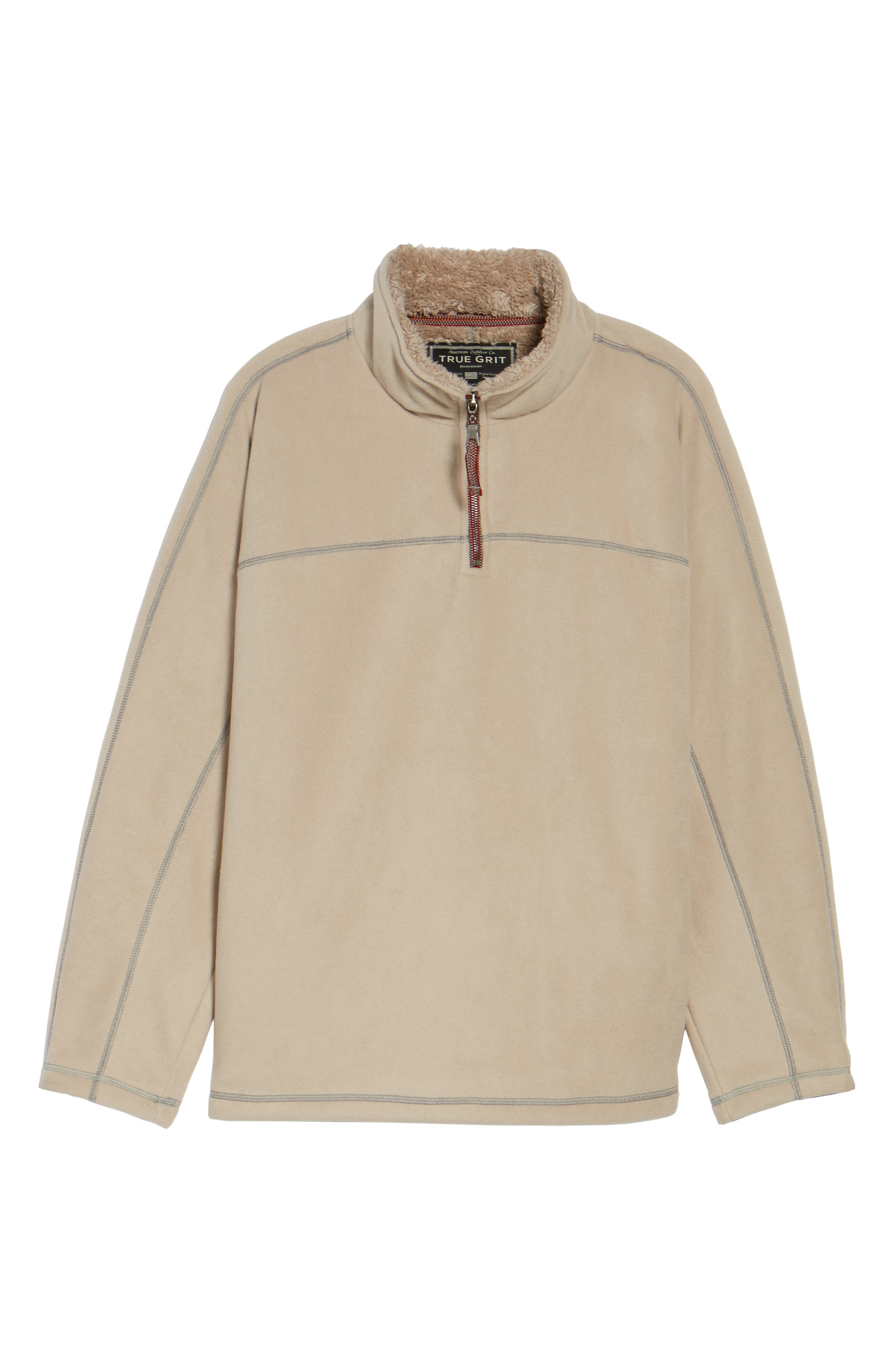 Bonded Polar Fleece Lined Pullover,                             Alternate thumbnail 6, color,                             Sand