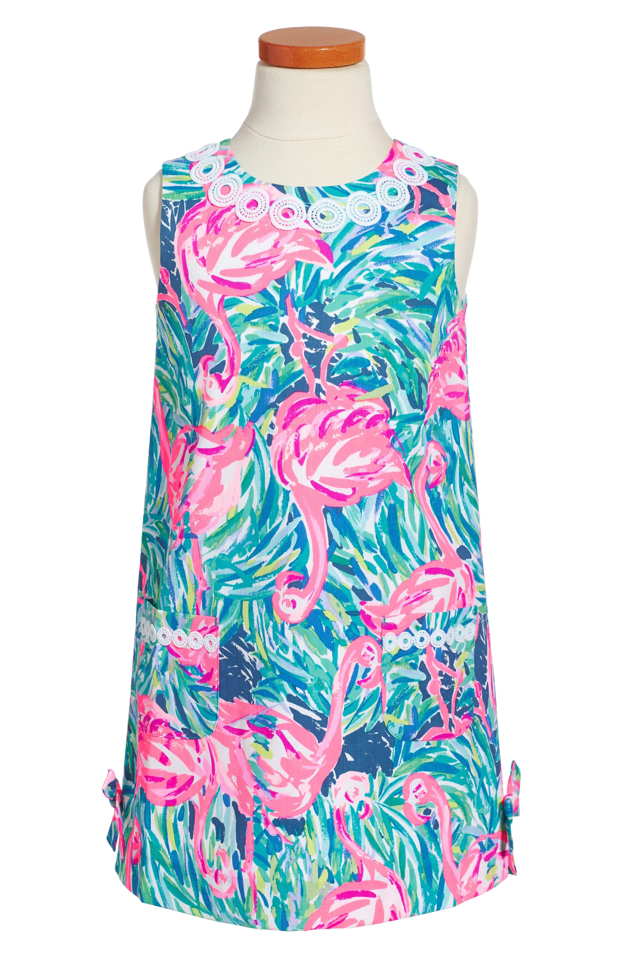 Classic Shift Dress,                         Main,                         color, Multi Flamenco Beach
