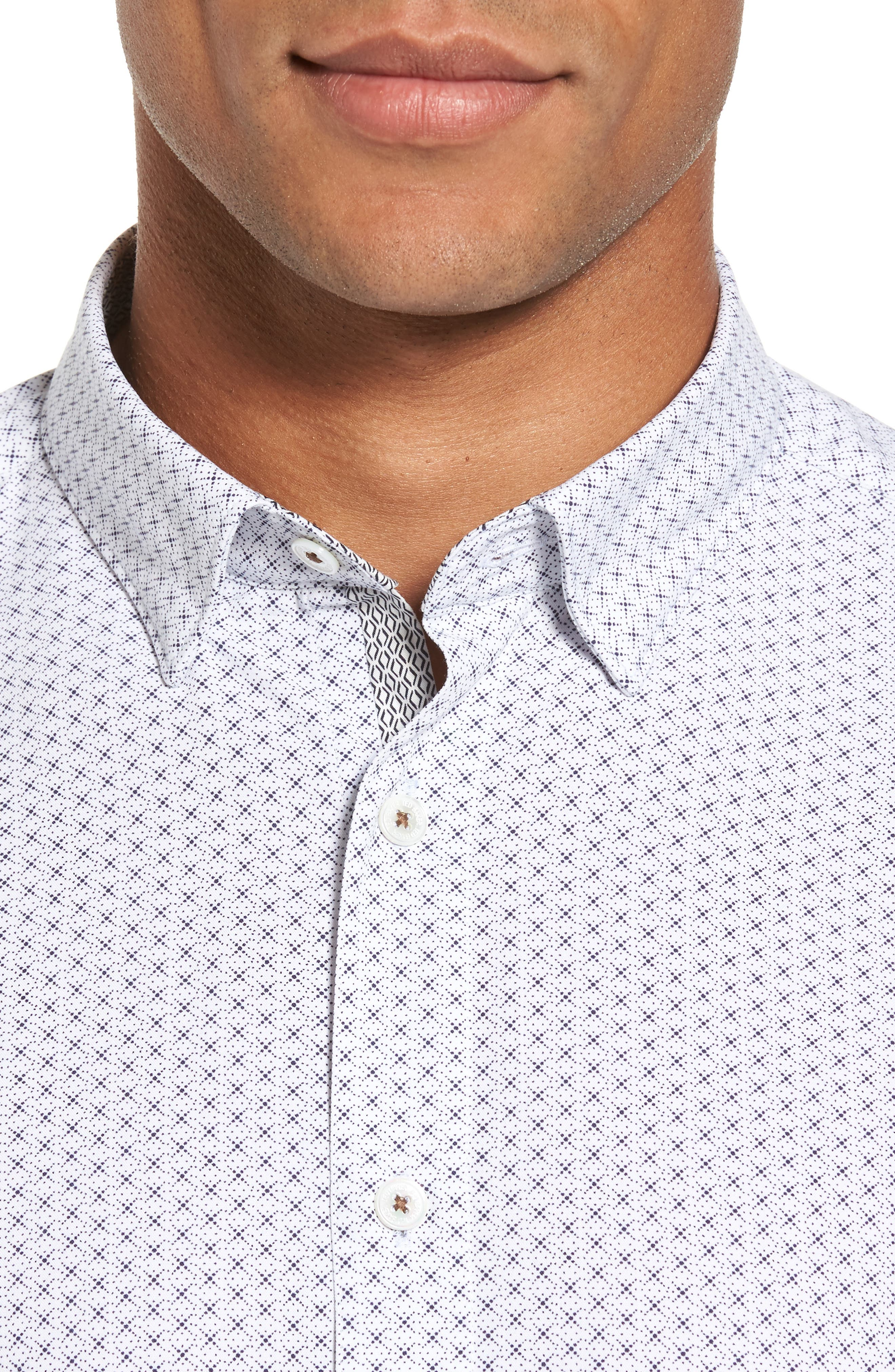 Alternate Image 4  - Ted Baker London Geo Polynosic Slim Fit Woven Shirt