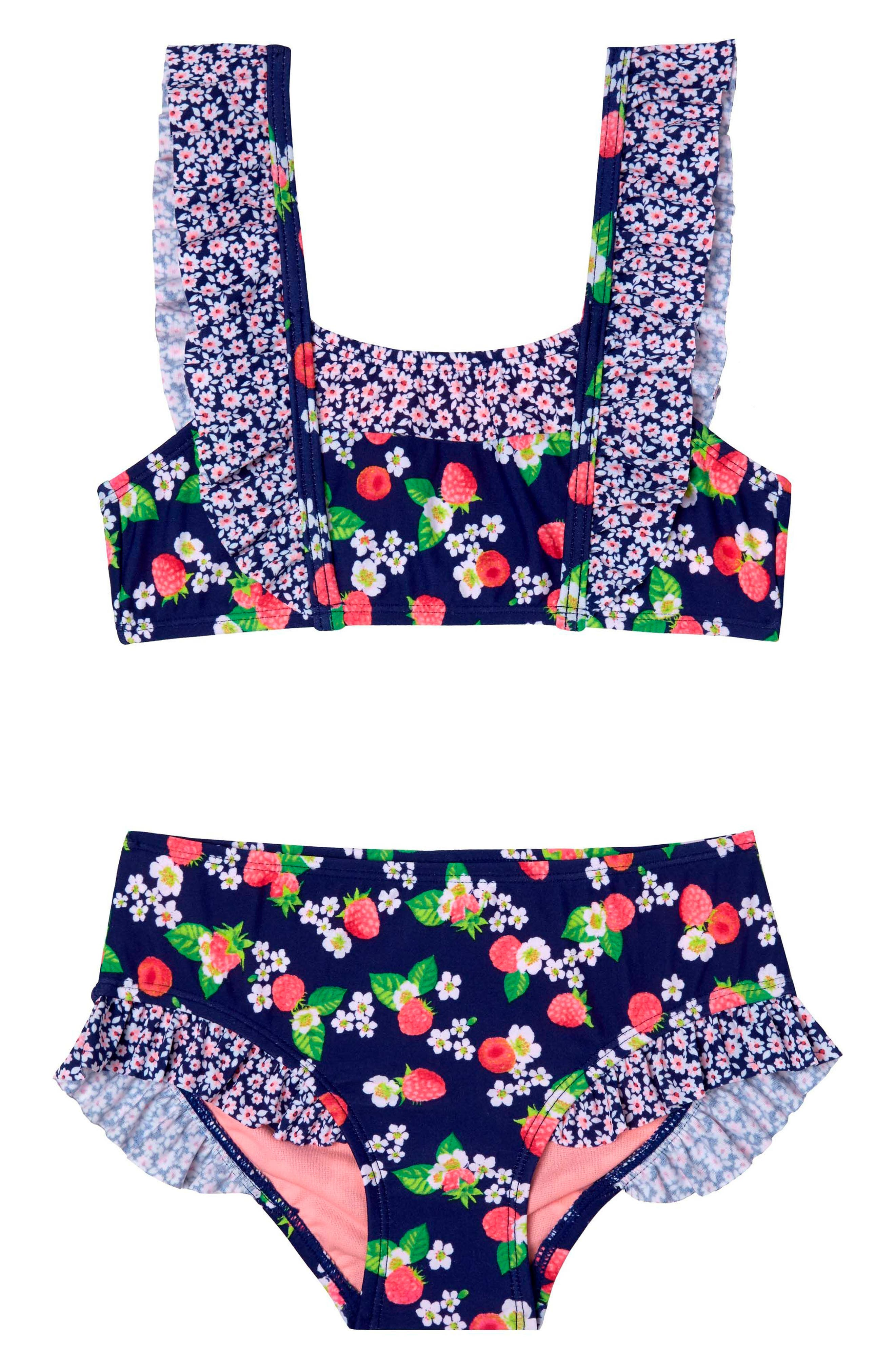 Sweet RaspberriesTwo-Piece Swimsuit,                         Main,                         color, Navy