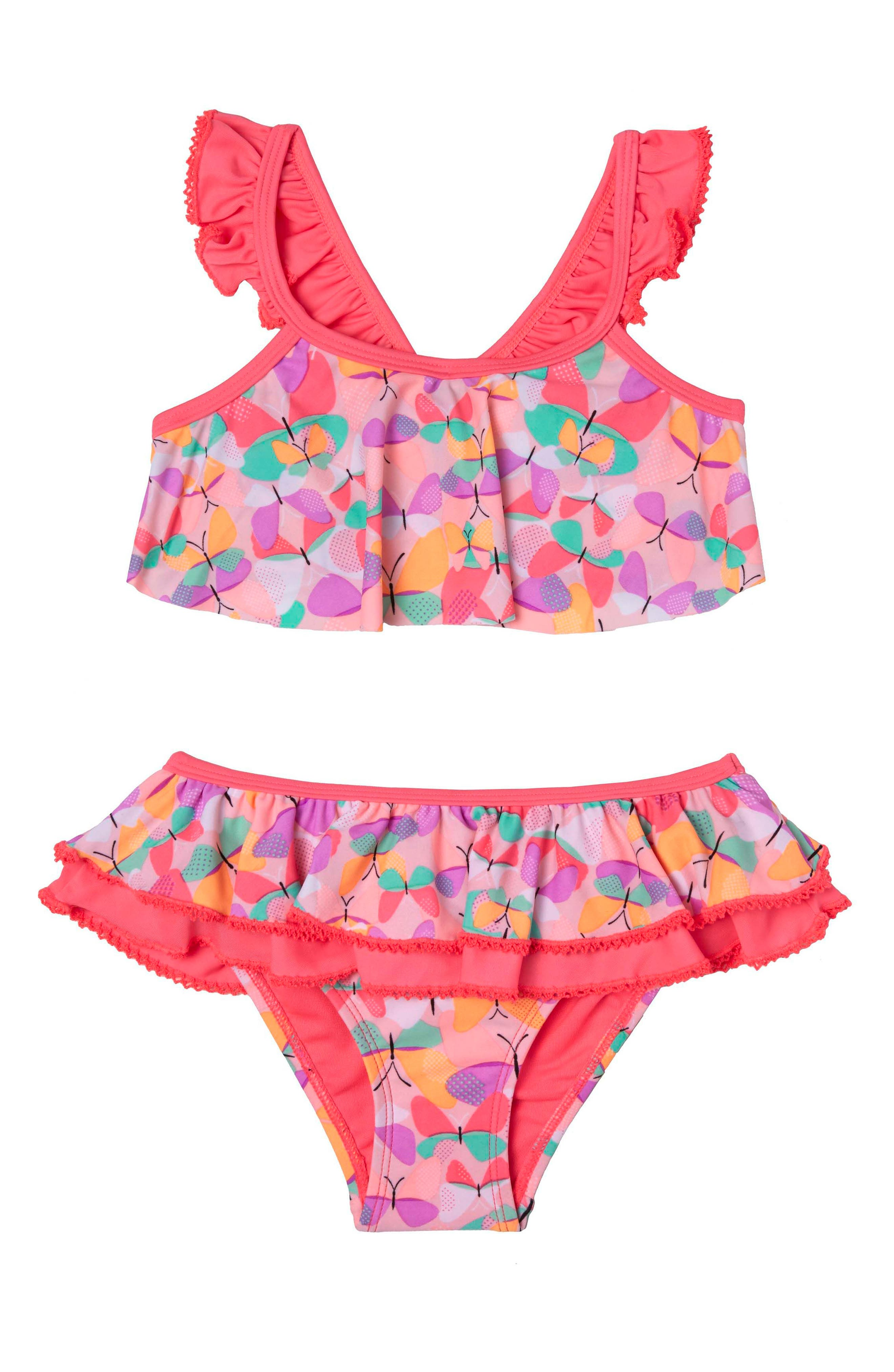 Hula Star Butterfly Cutie Two-Piece Swimsuit (Toddler Girls & Little Girls)
