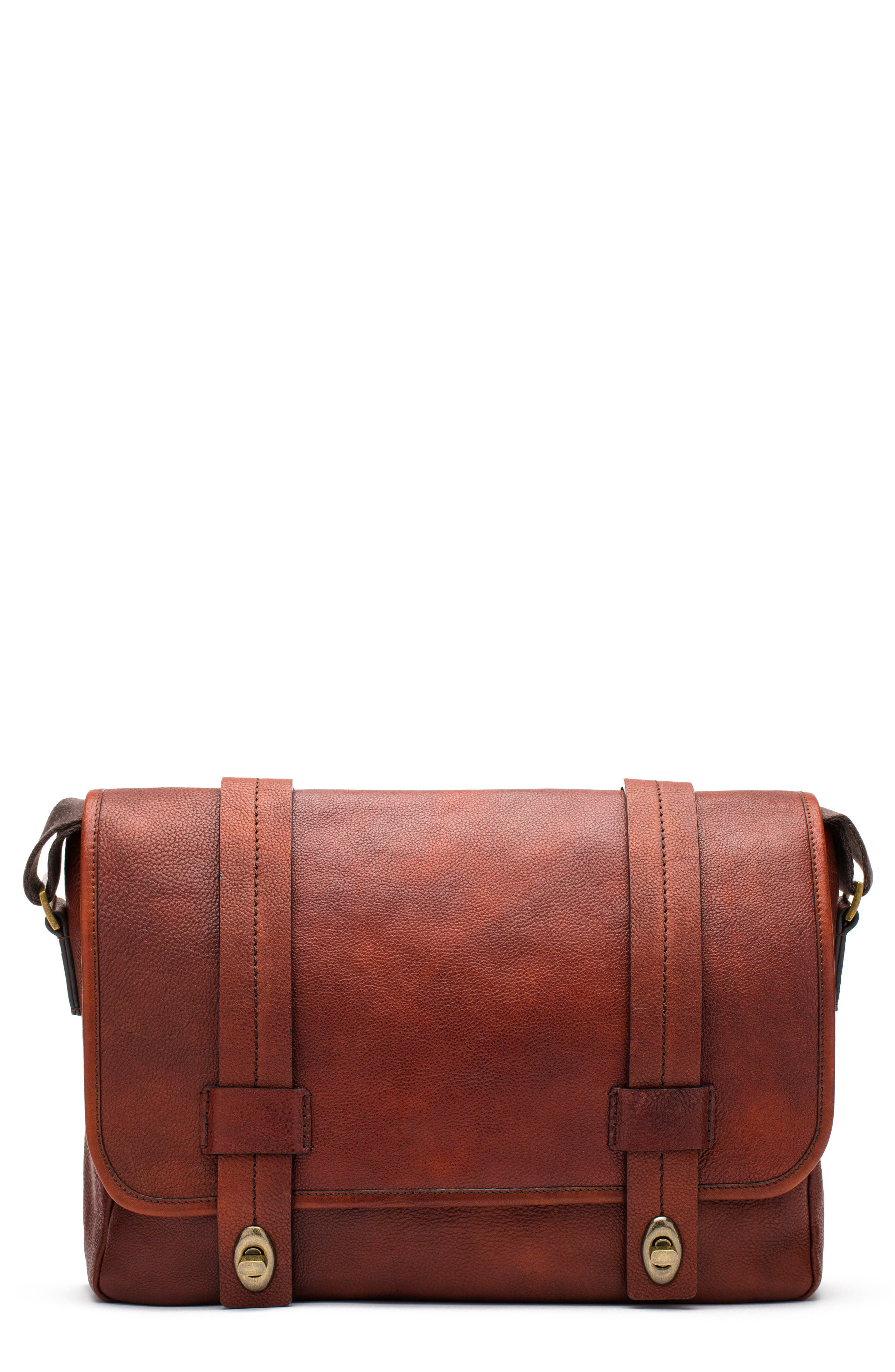 Alternate Image 1 Selected - Bosca Leather Messenger Bag