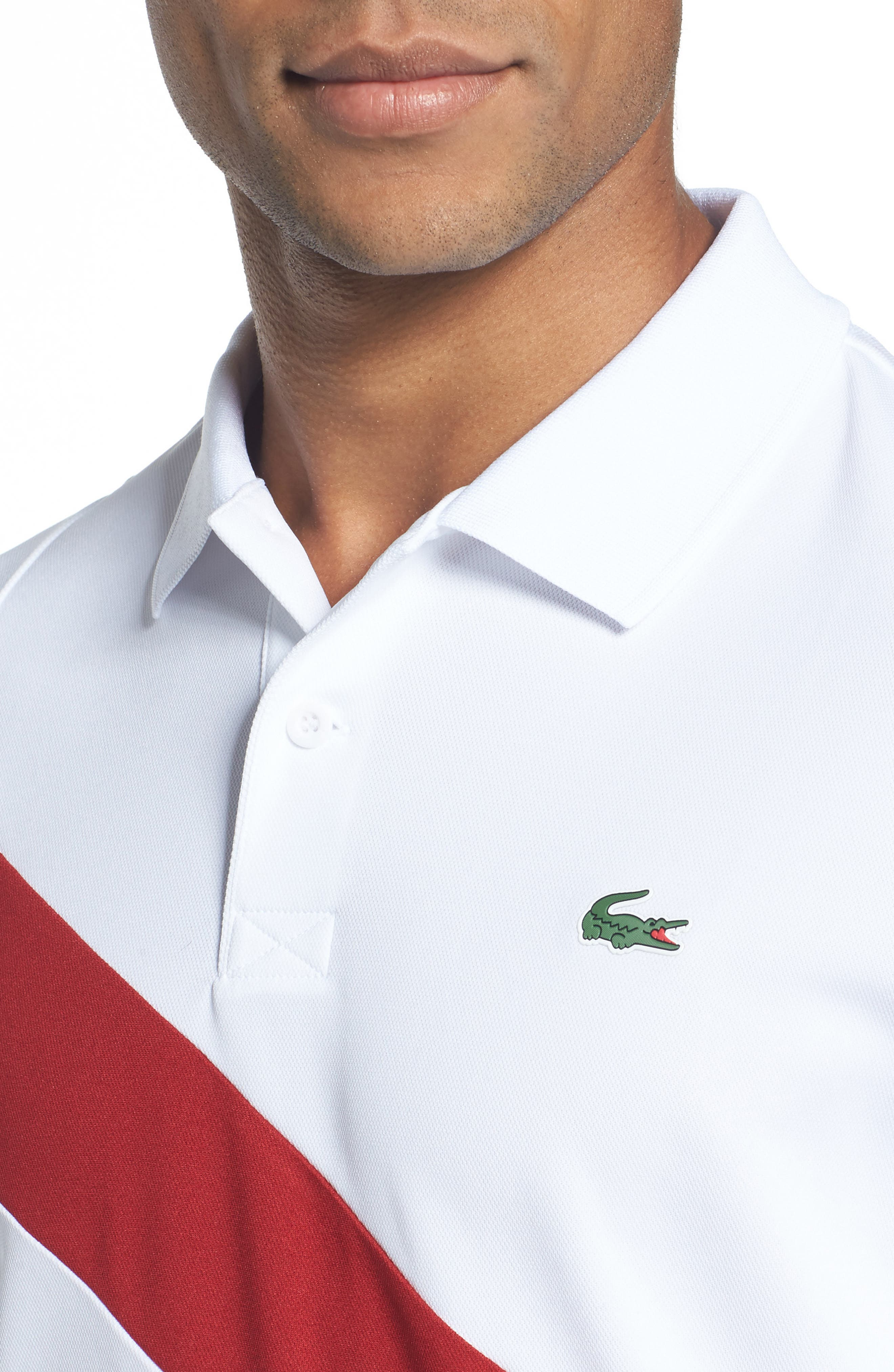 Alternate Image 4  - Lacoste Asymmetrical Colorblocked Polo
