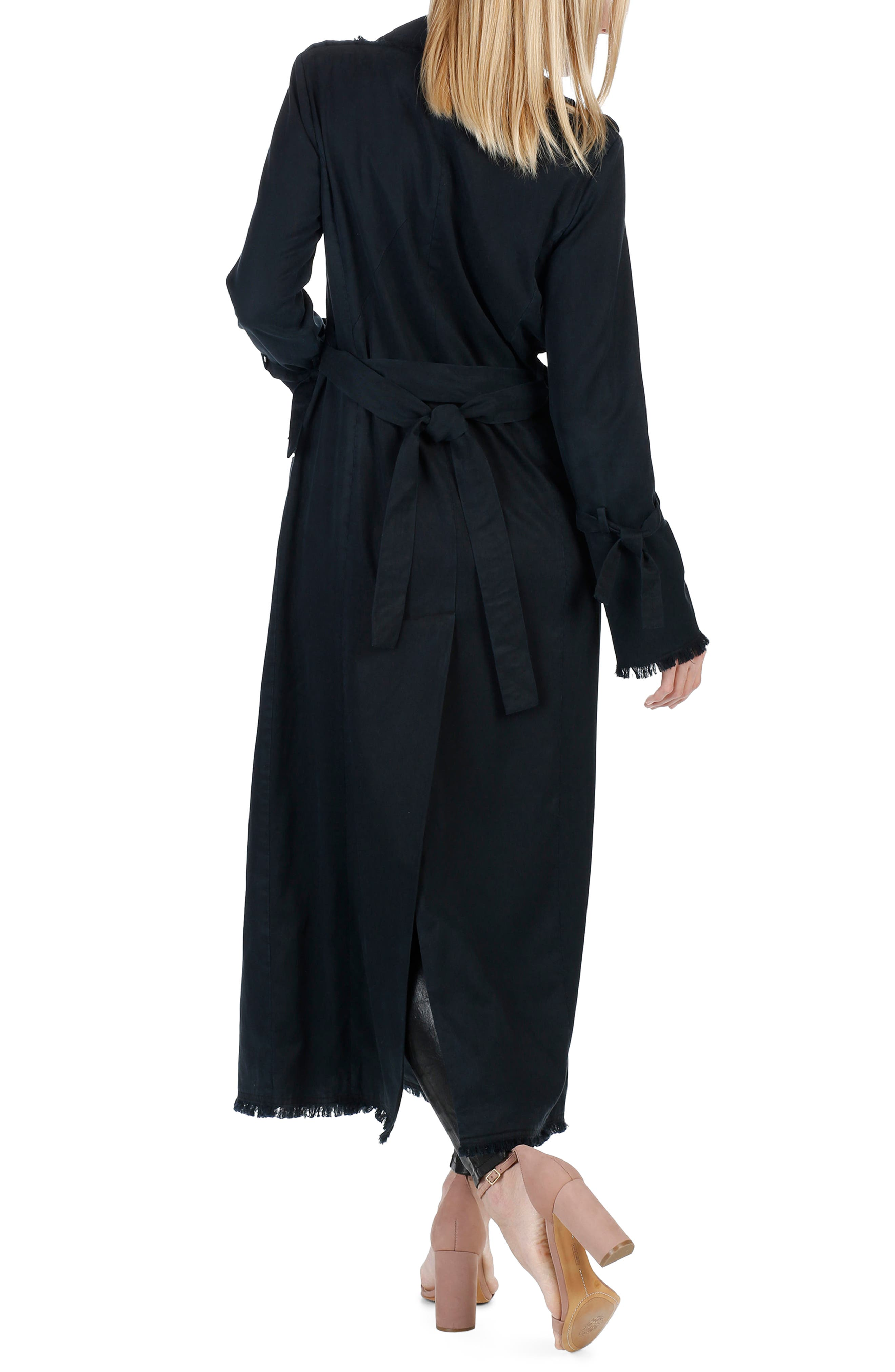 Norma Bell Sleeve Trench Coat,                             Alternate thumbnail 2, color,                             Midnight