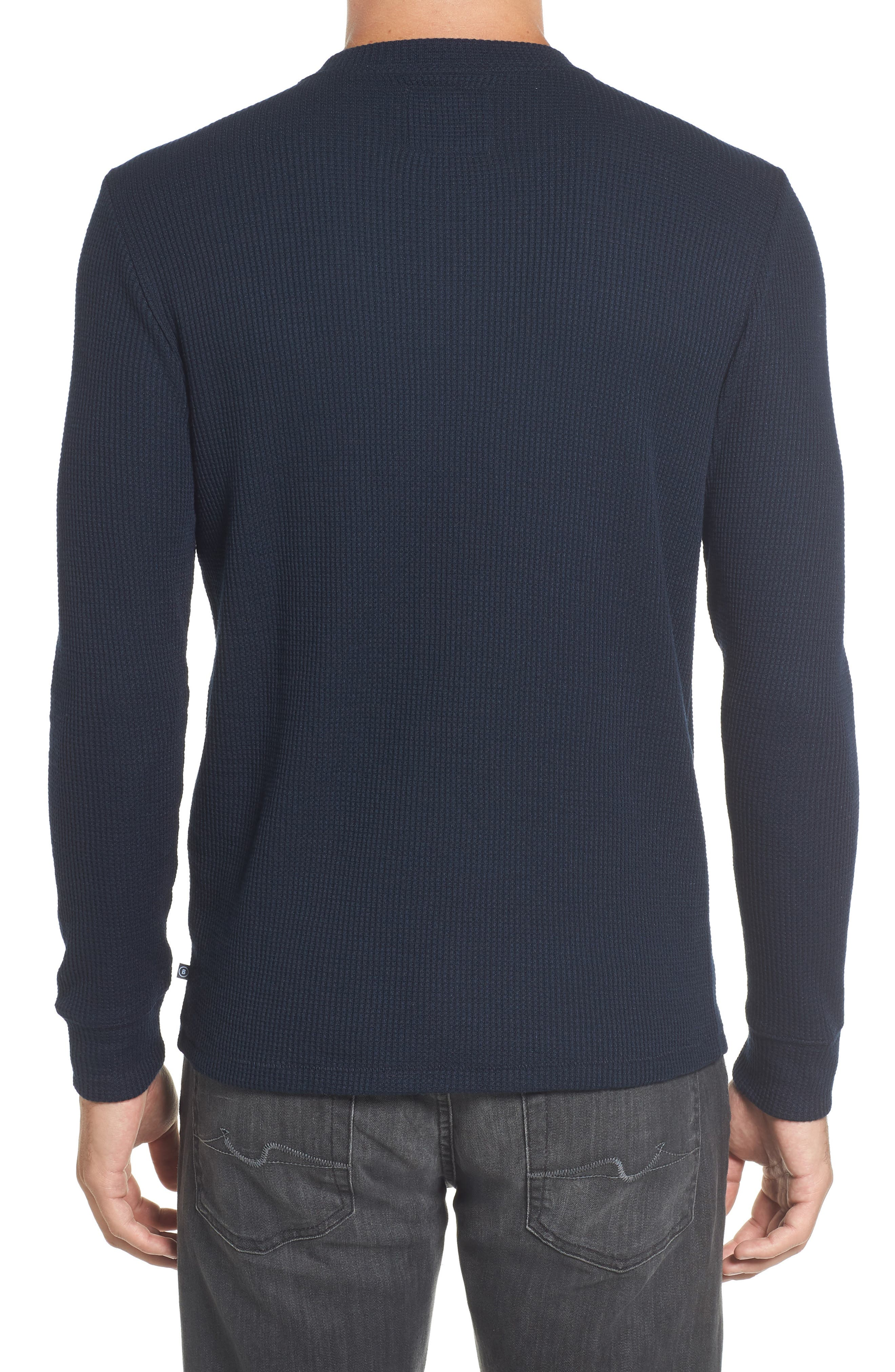 Slim Fit Long Sleeve Henley Shirt,                             Alternate thumbnail 2, color,                             Stormy Night