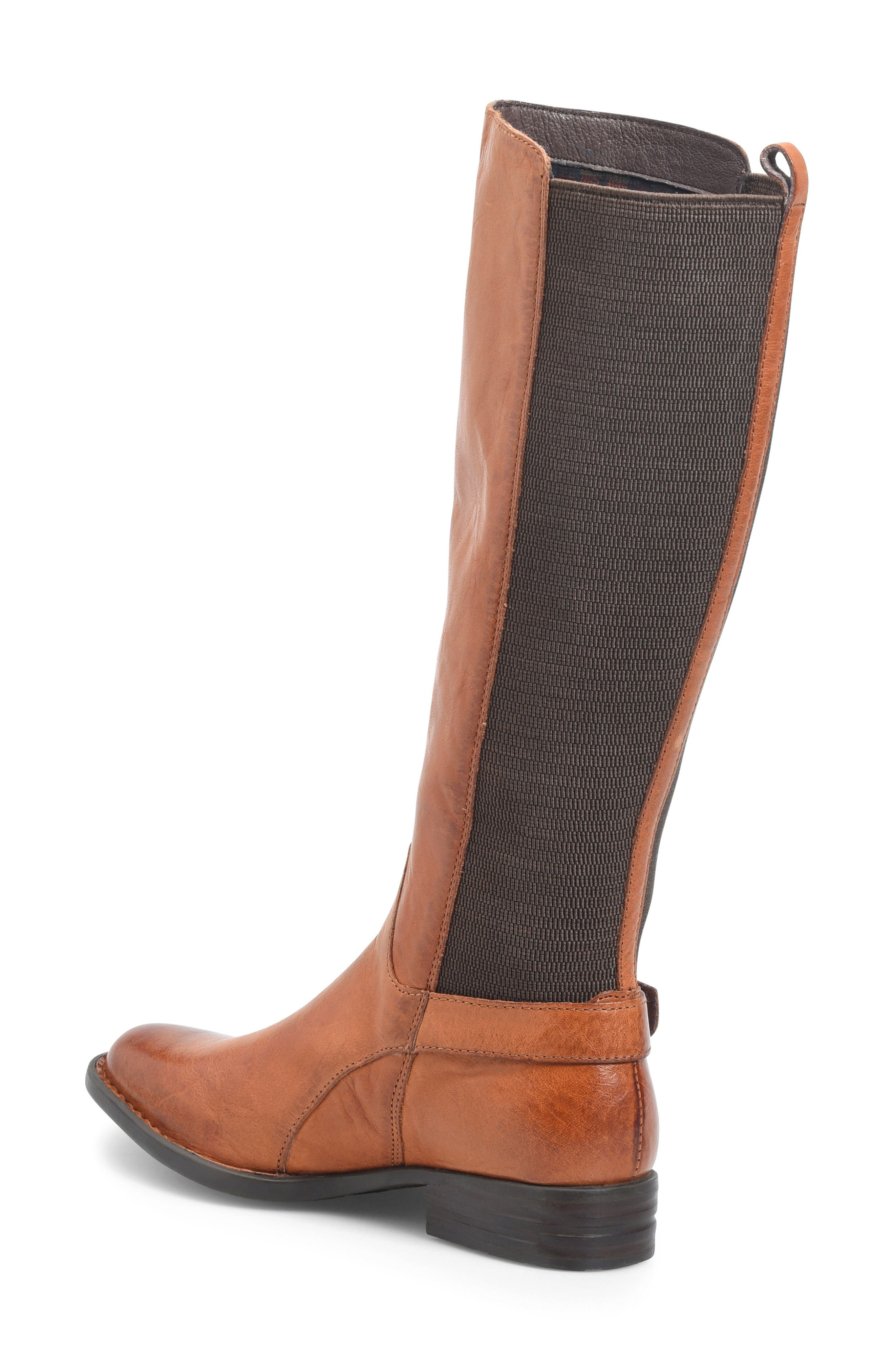 Campbell Knee High Elastic Back Boot,                             Alternate thumbnail 2, color,                             Tan Leather