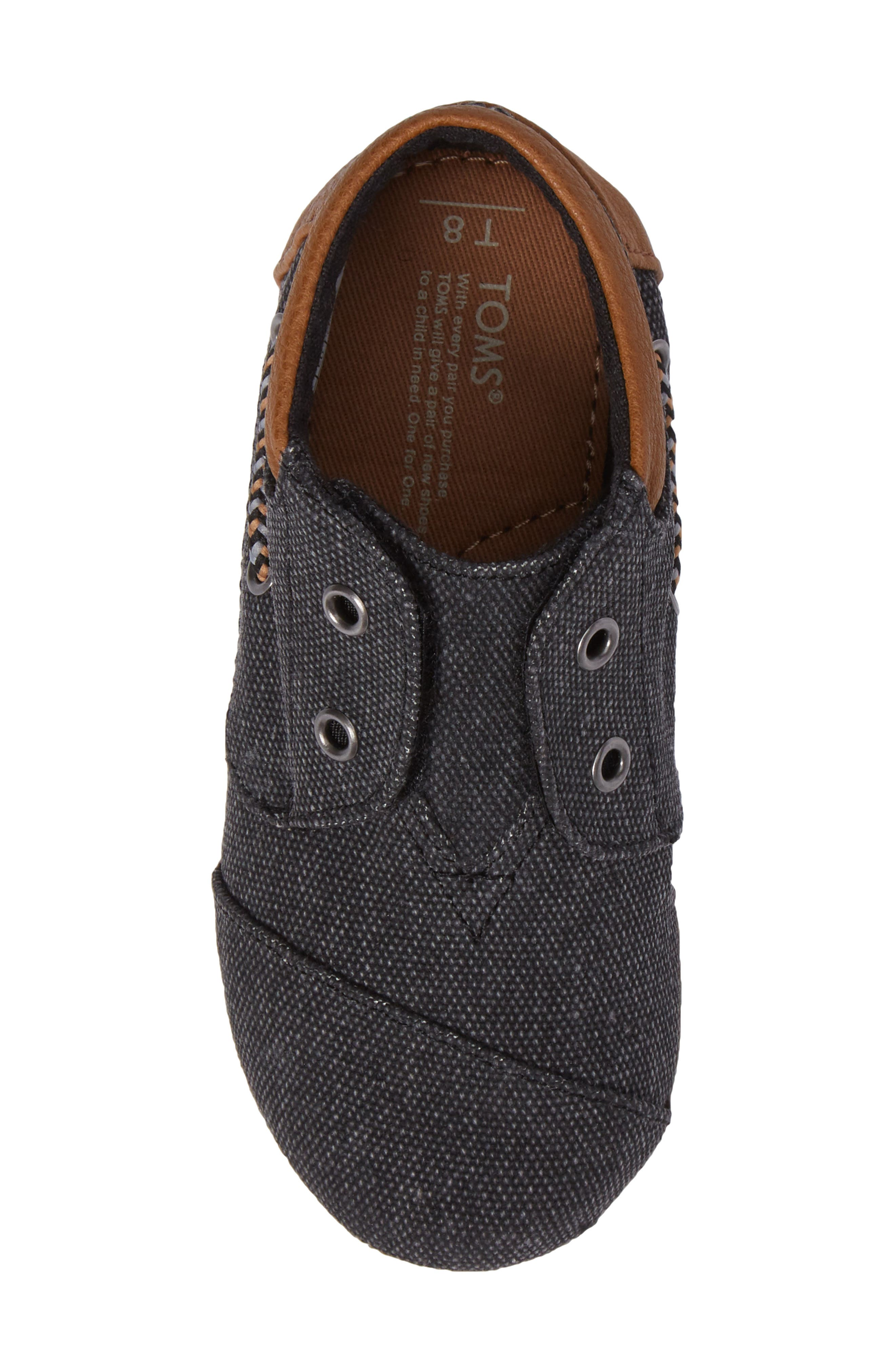 'Bimini - Tiny' Slip-On,                             Alternate thumbnail 5, color,                             Black Washed Canvas