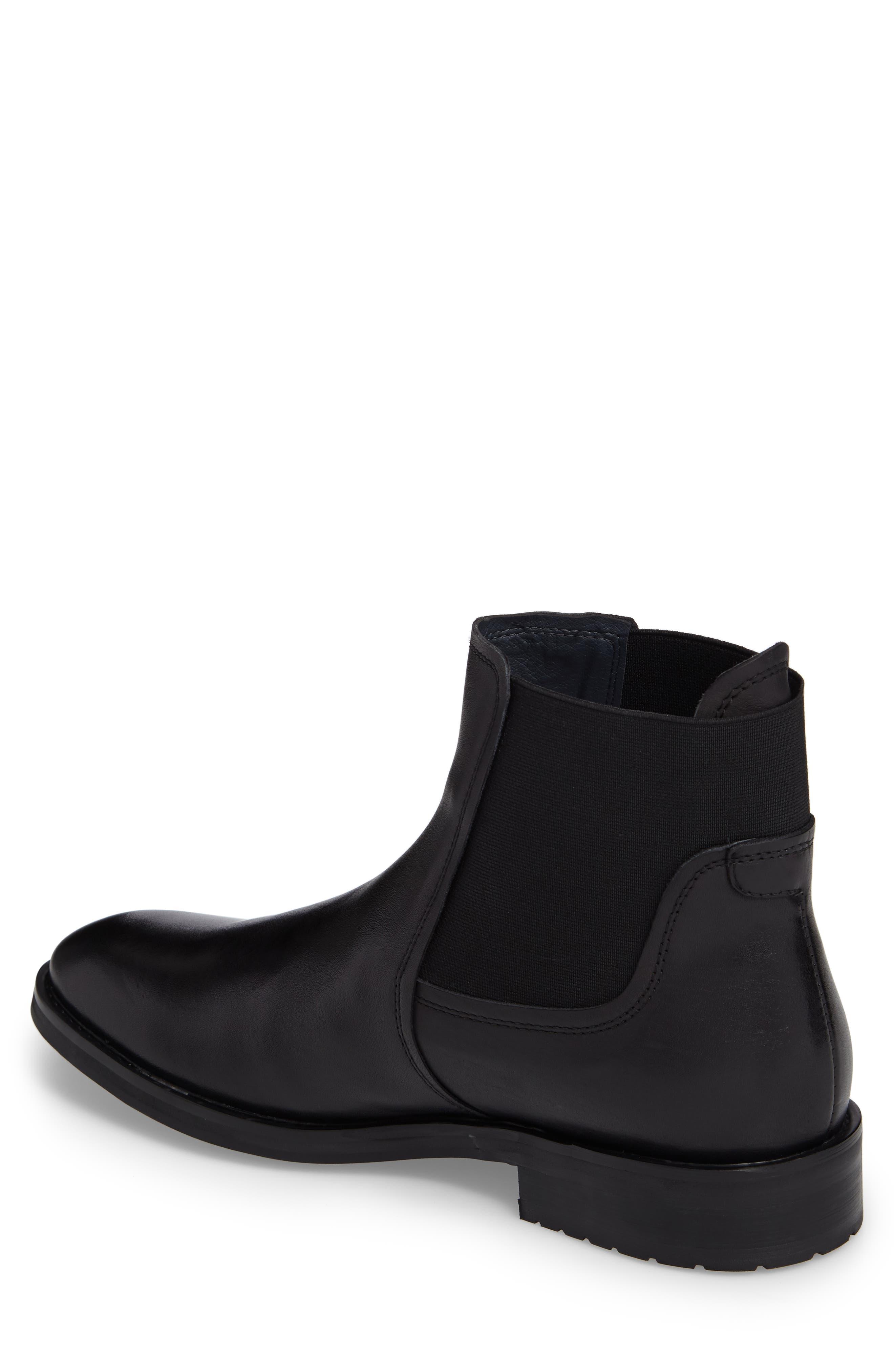Belmont Chelsea Boot,                             Alternate thumbnail 2, color,                             Black Leather