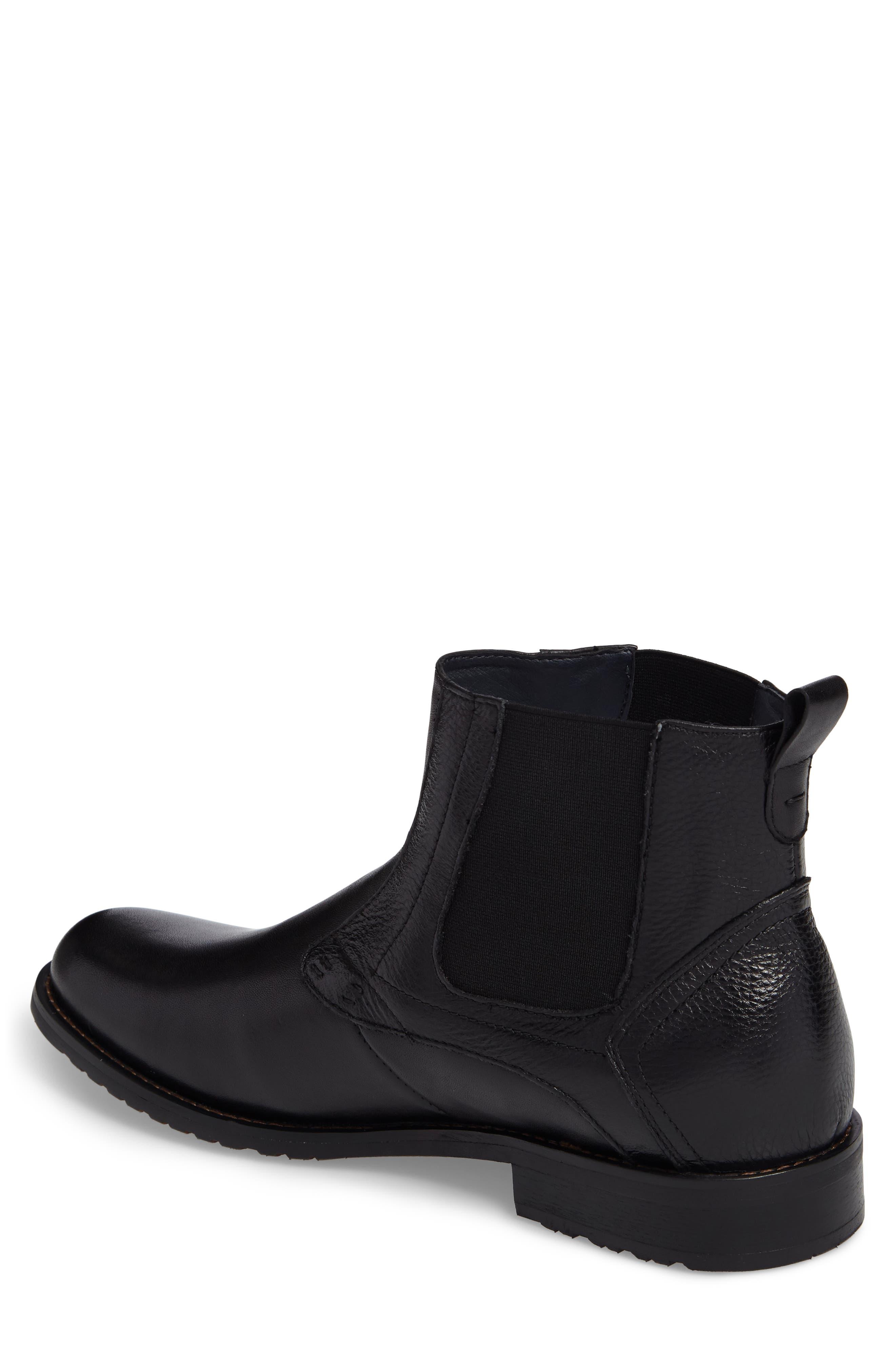 Oaks Chelsea Boot,                             Alternate thumbnail 2, color,                             Black Leather