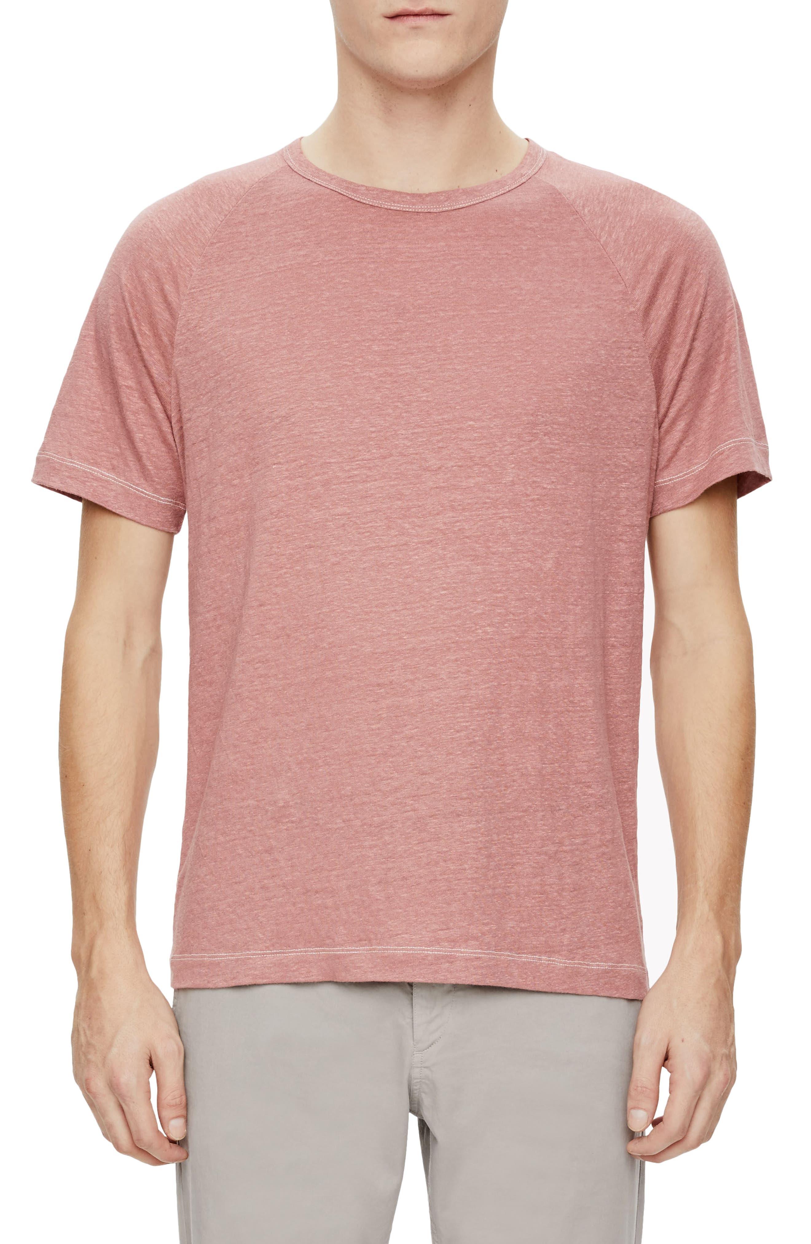 Main Image - Theory Dustyn Zephyr Raglan Linen T-Shirt
