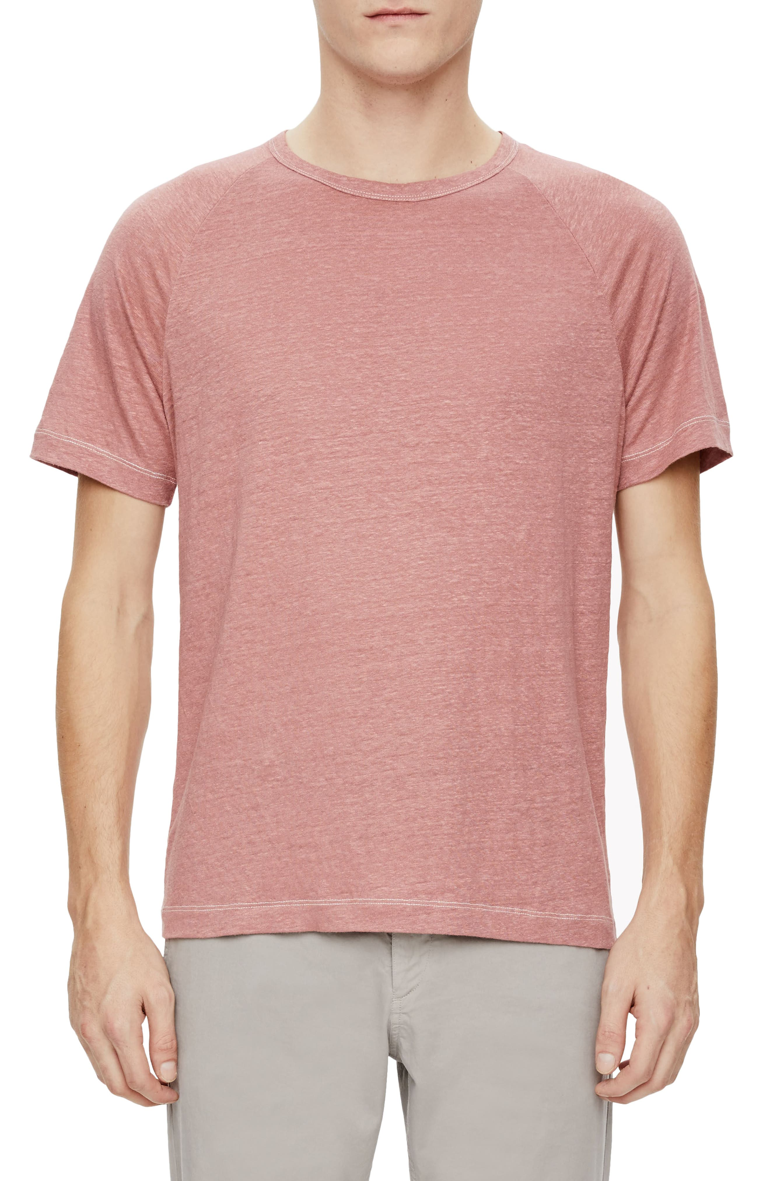 Dustyn Zephyr Raglan Linen T-Shirt,                         Main,                         color, Allium