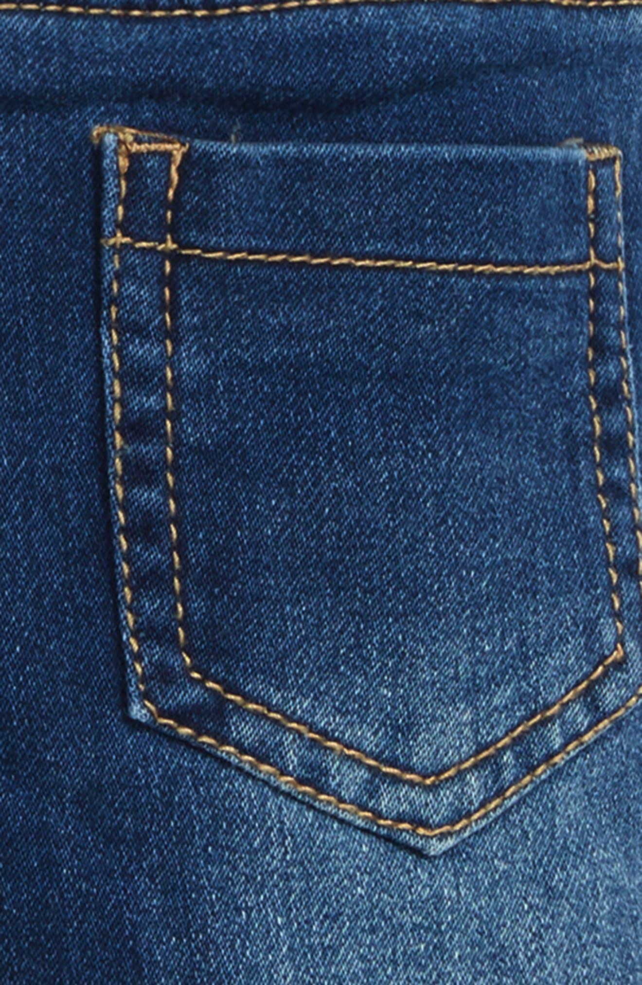Alternate Image 3  - Rosie Pope Jeans & Suspenders Set (Baby Girls)