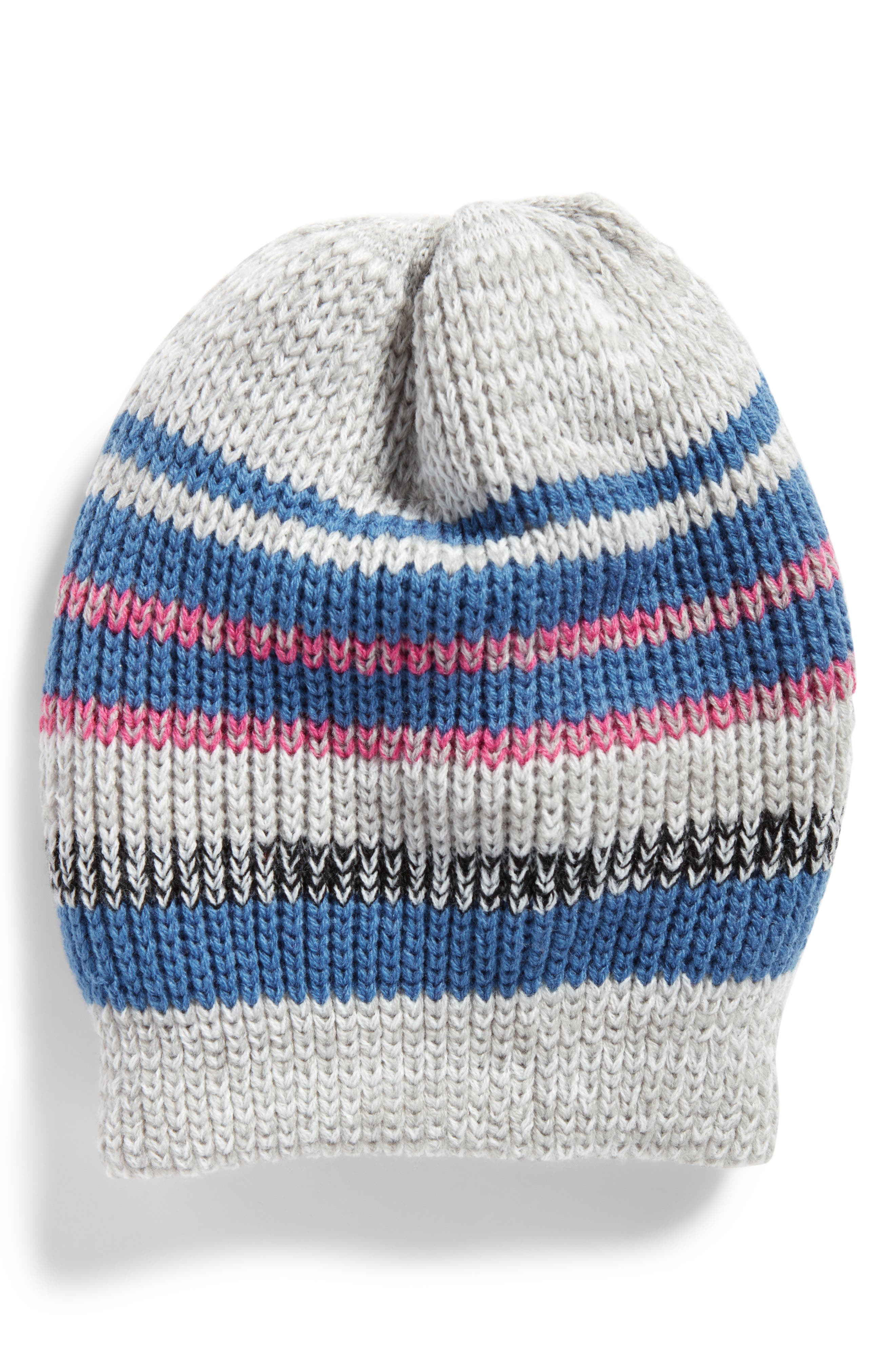 Everyday Striped Beanie,                             Main thumbnail 1, color,                             Blue