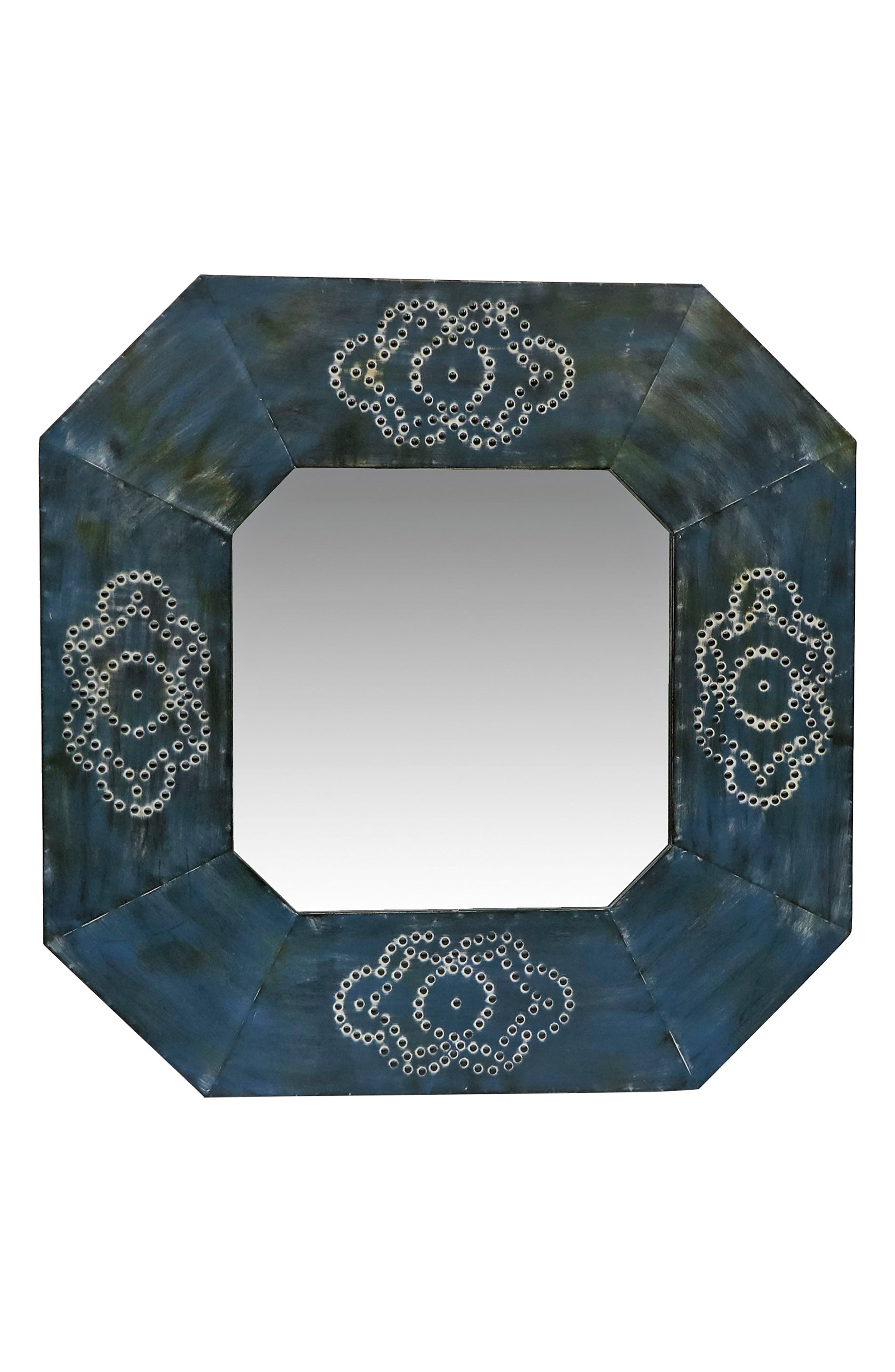 Memphis Mirror,                         Main,                         color, Metal/ Glass