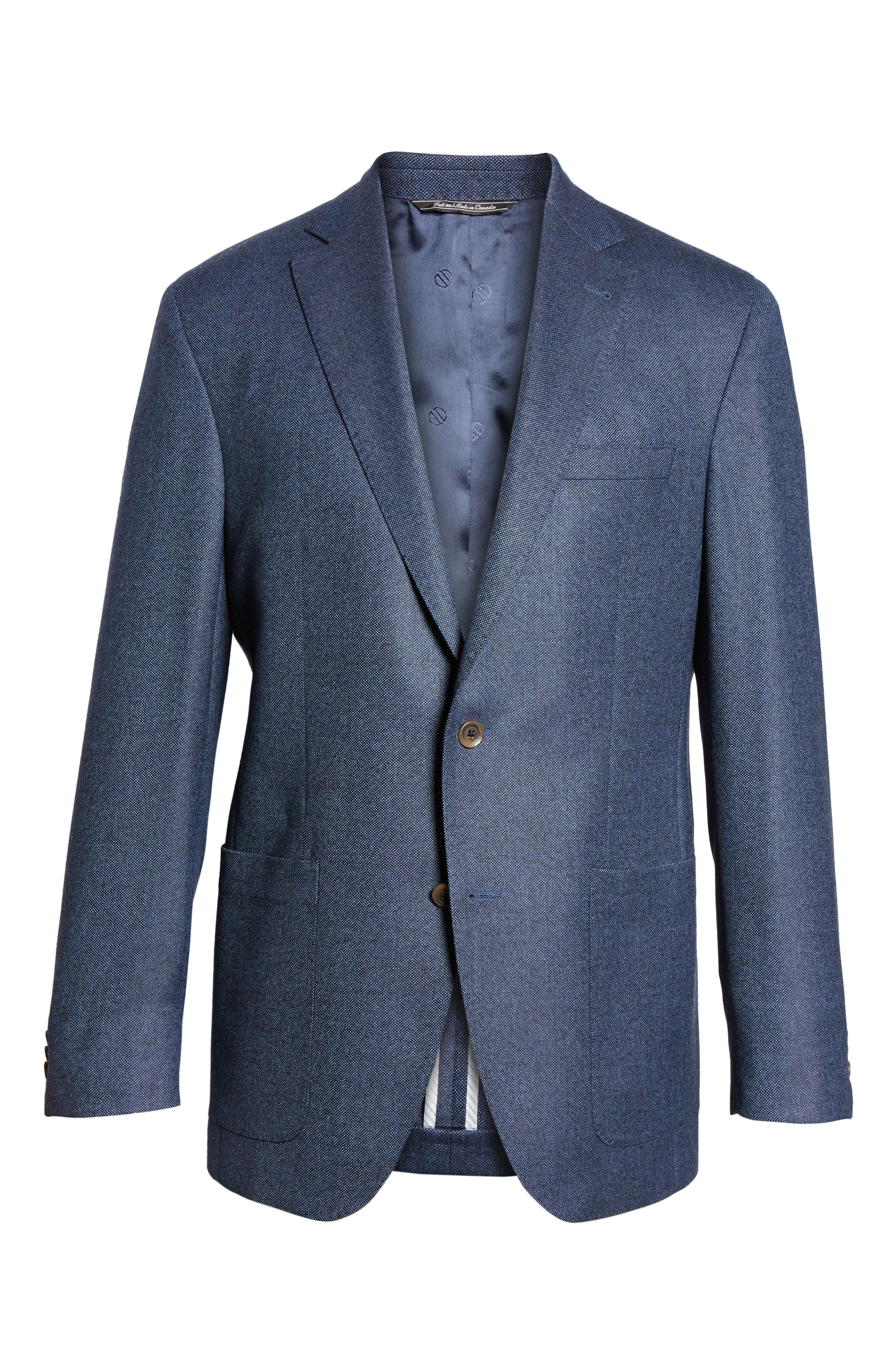 Alternate Image 5  - David Donahue Aiden Classic Fit Wool Blazer