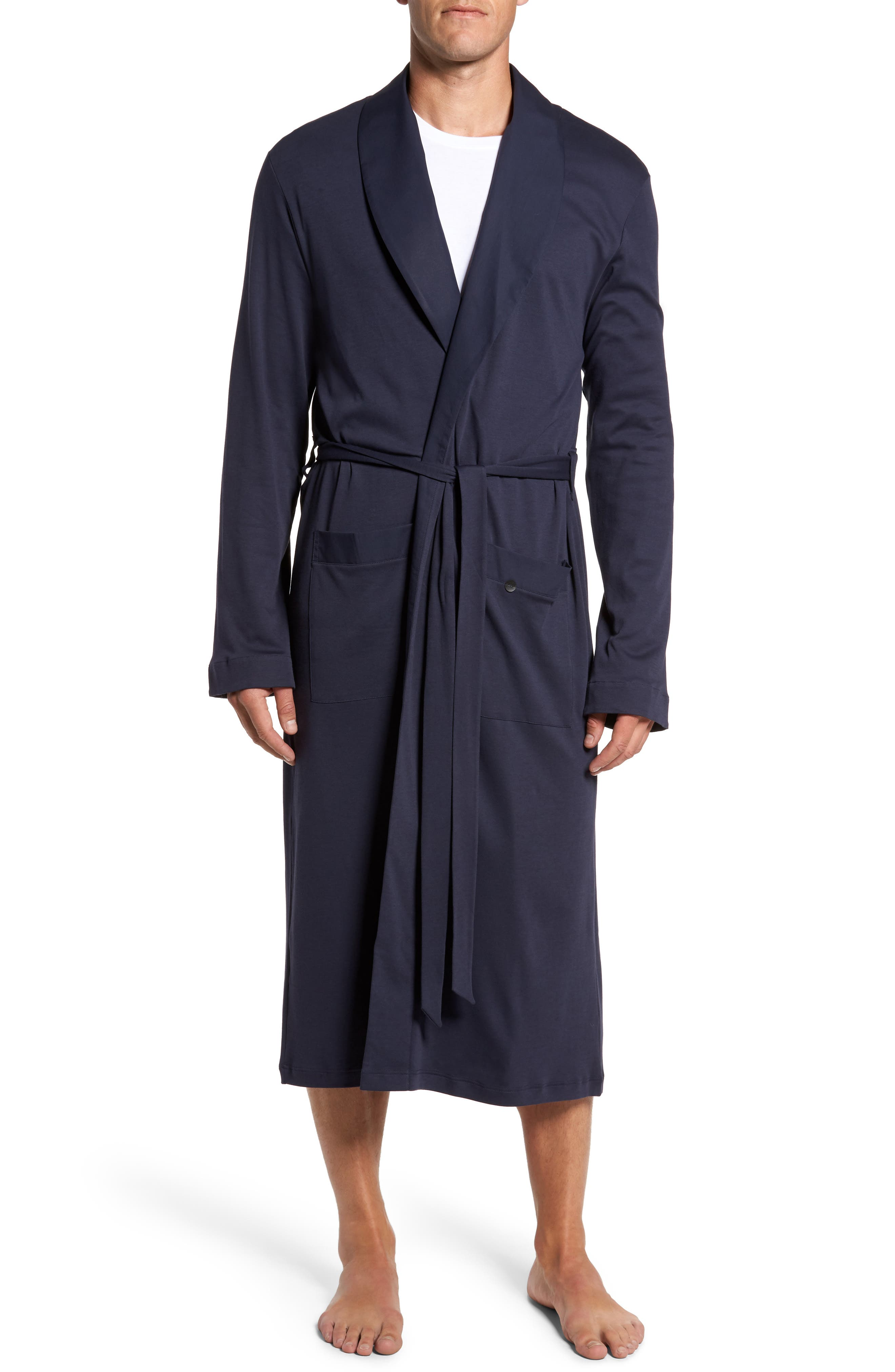 Night & Day Knit Robe,                         Main,                         color, Black Iris