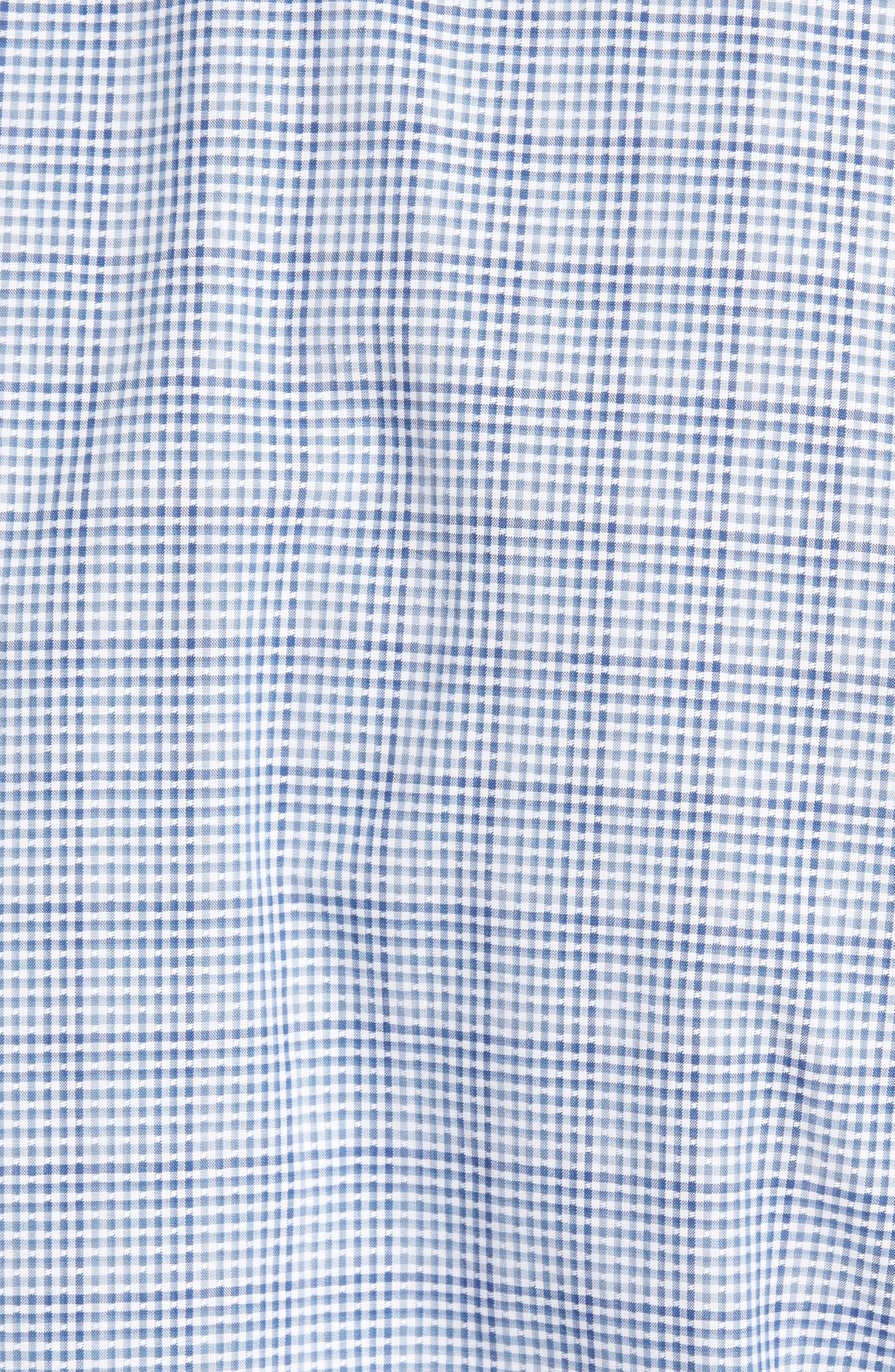 Regular Fit Dobby Check Sport Shirt,                             Alternate thumbnail 5, color,                             Blue