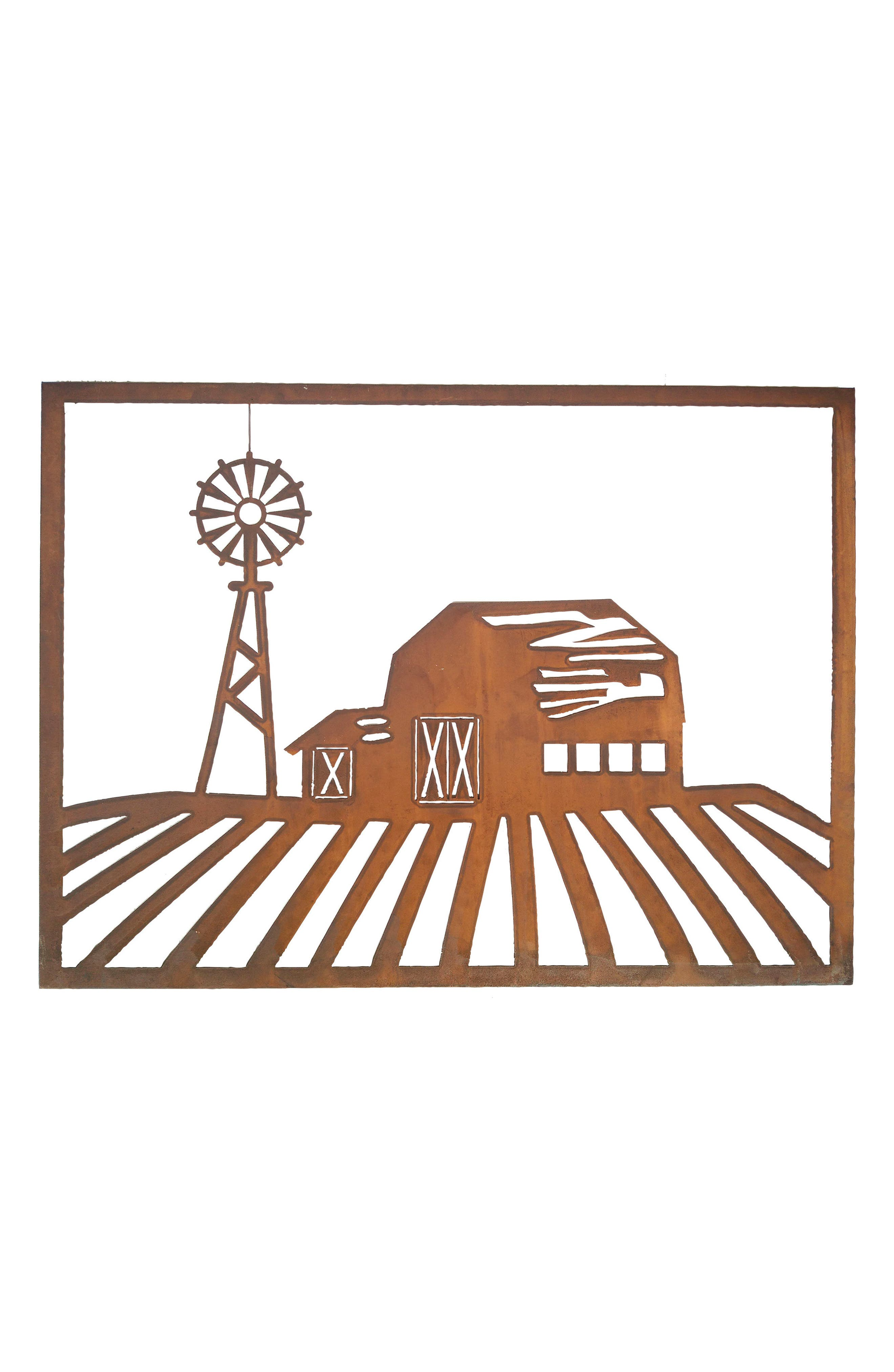Barn Scene Wall Art,                         Main,                         color, Metal