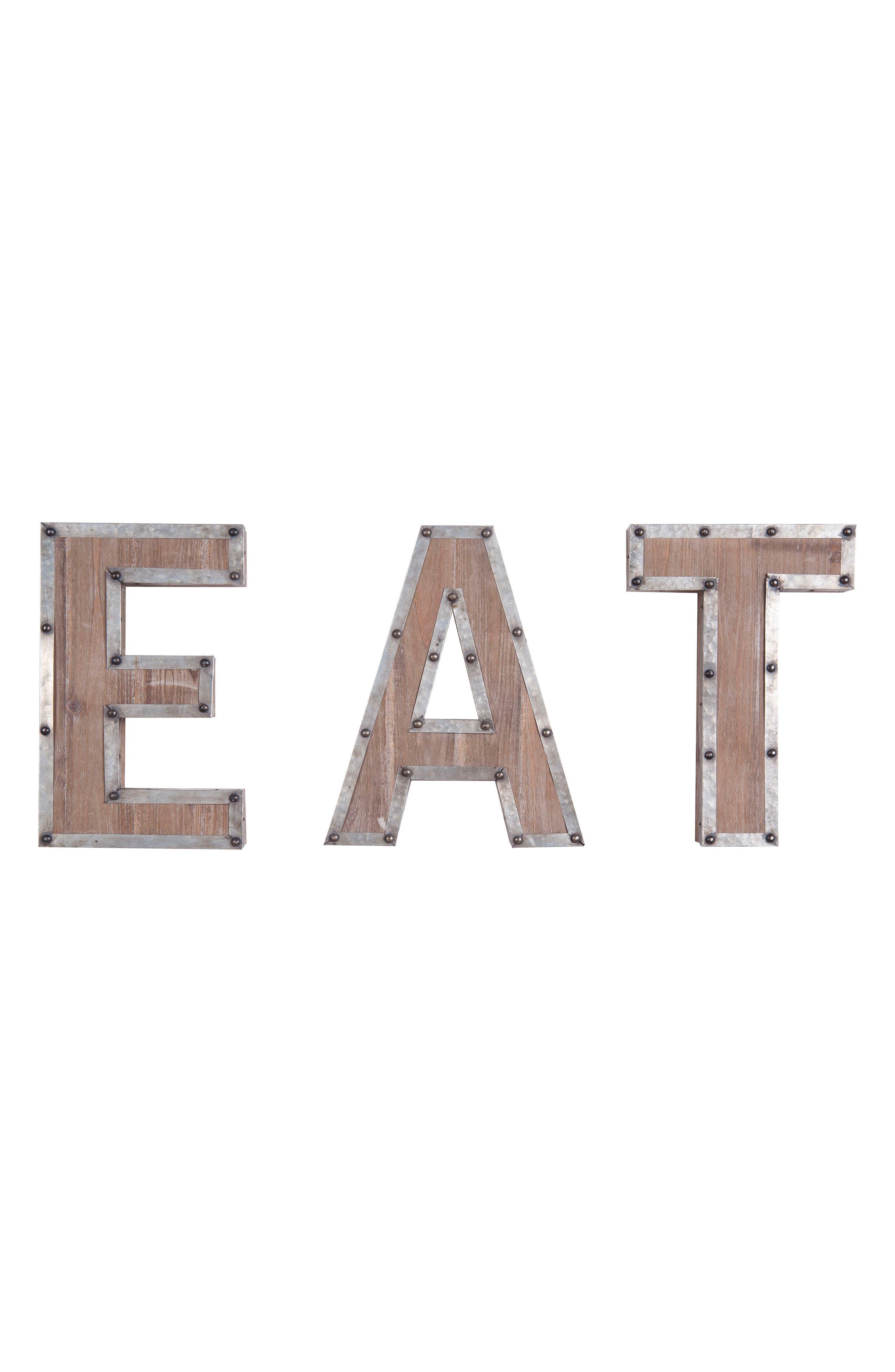 Ashville - Eat Wall Art,                         Main,                         color, Metal/ Wood