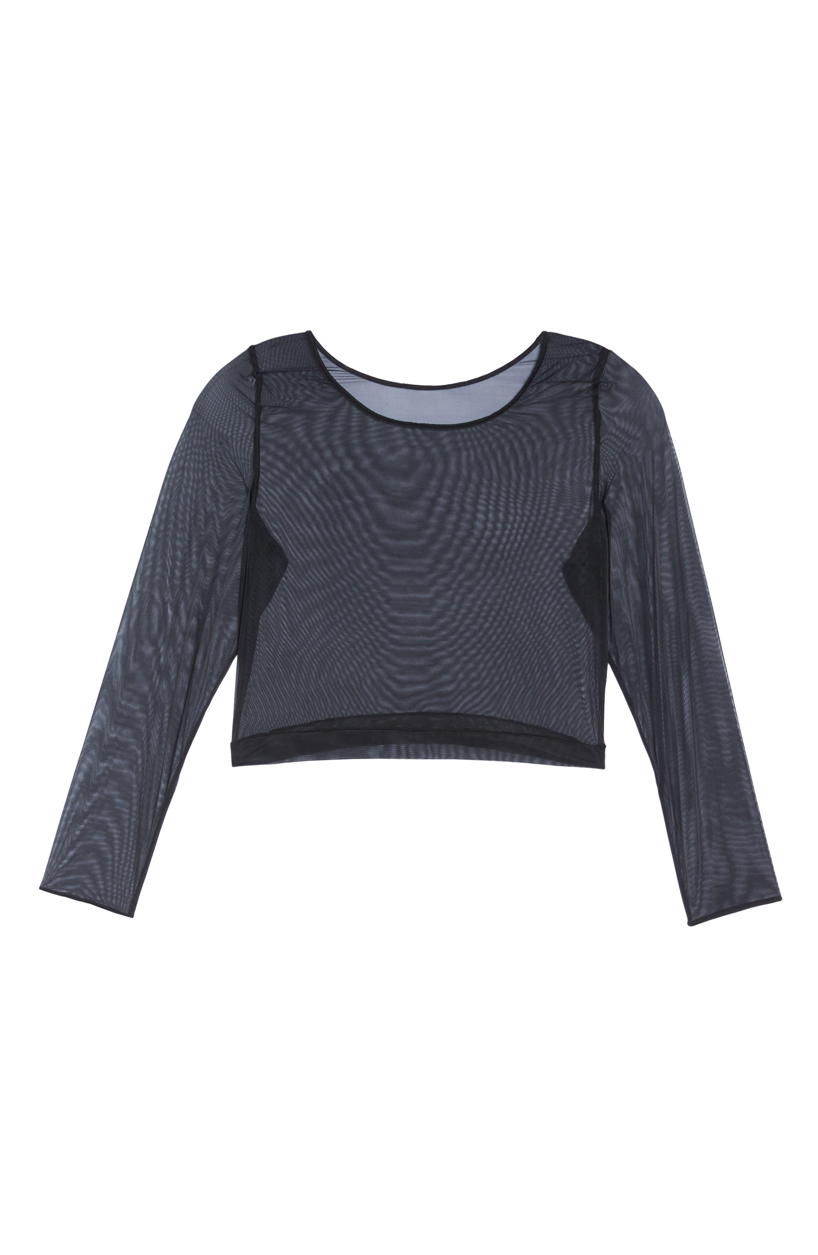 Alternate Image 4  - SPANX® Sheer Crop Top (Plus Size)