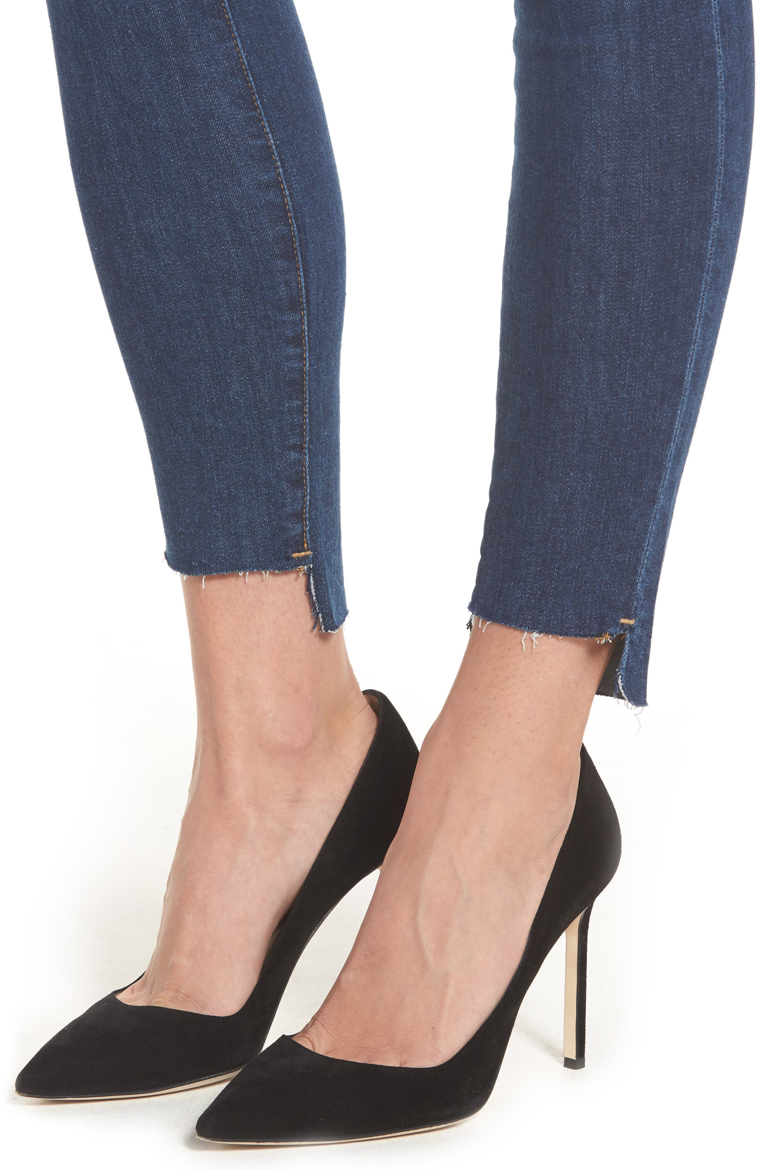 Alternate Image 4  - Good American Good Legs High Waist Skinny Jeans (Blue 046) (Extended Sizes)