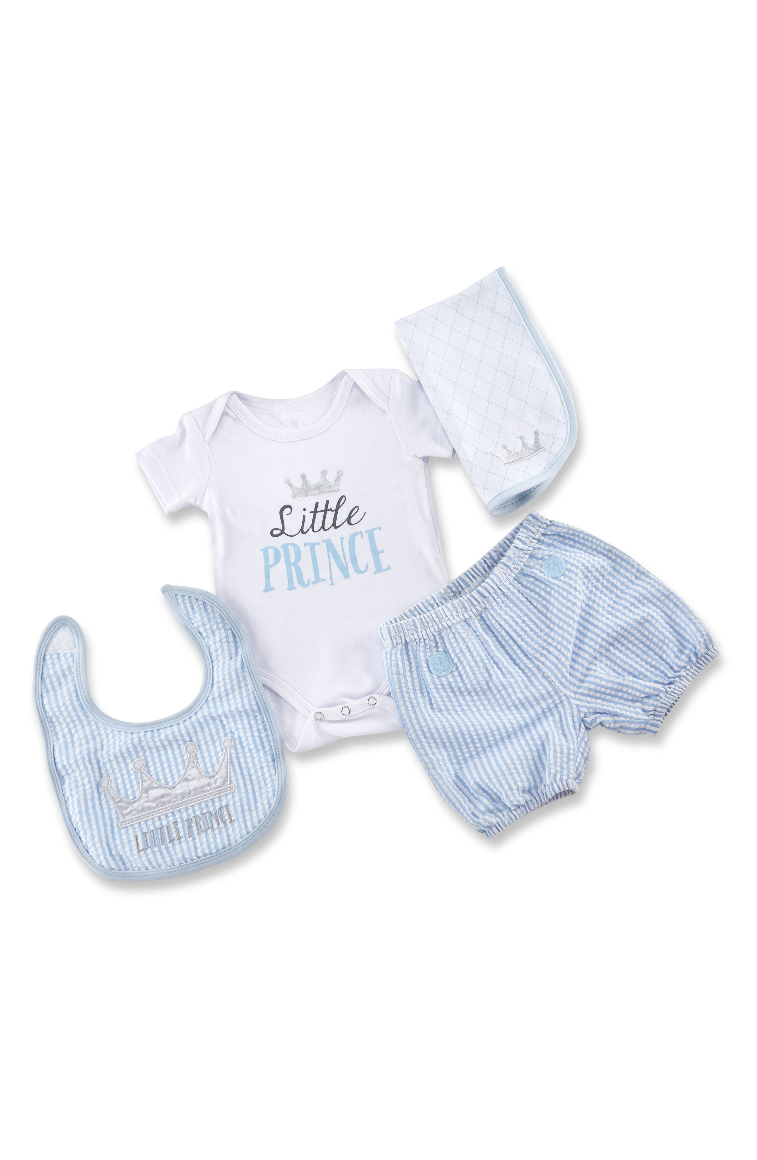 Little Prince Gift Set,                             Main thumbnail 1, color,                             Blue, White And Silver