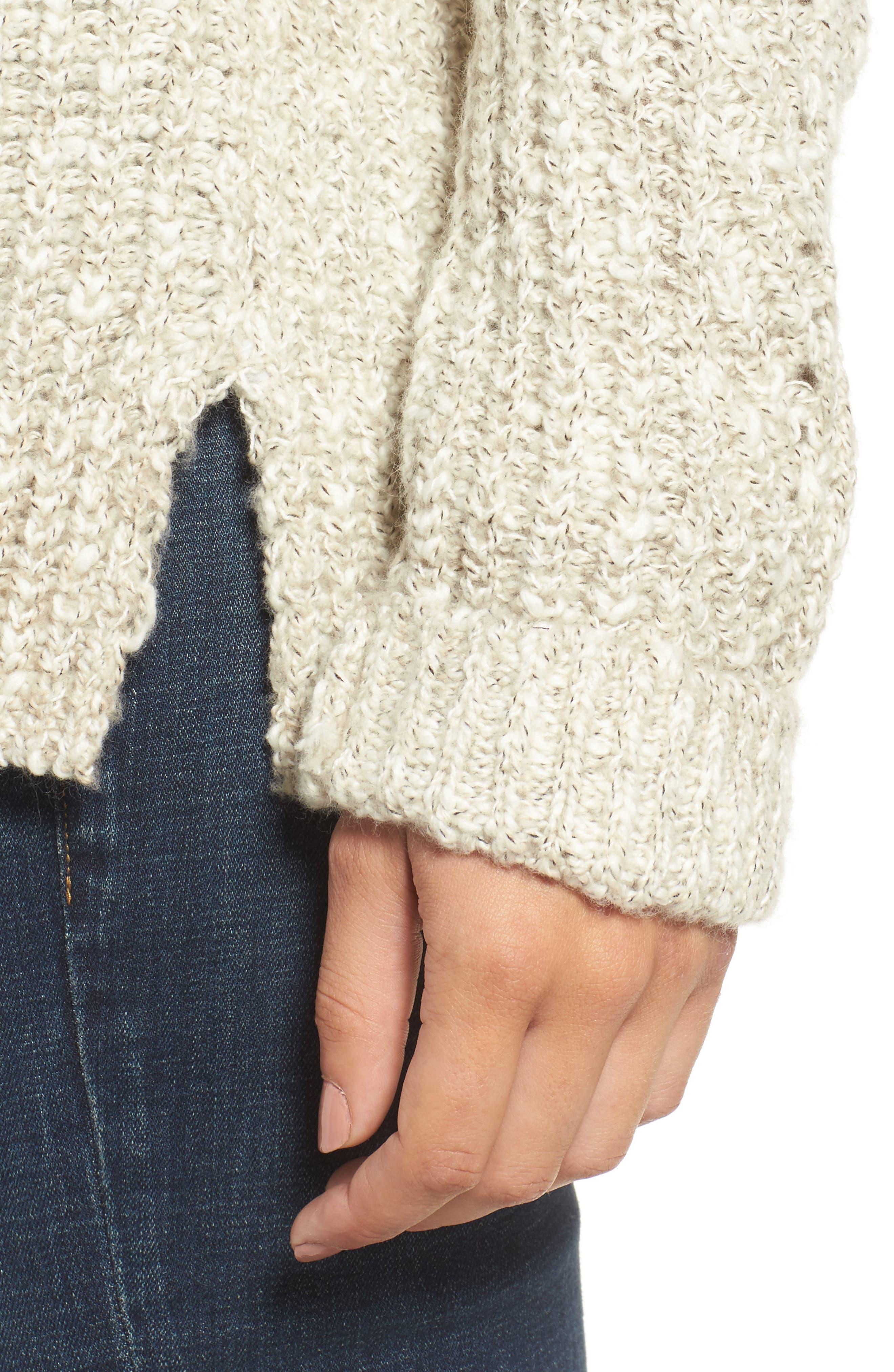 Alternate Image 4  - Lucky Brand Open Stitch Sweater