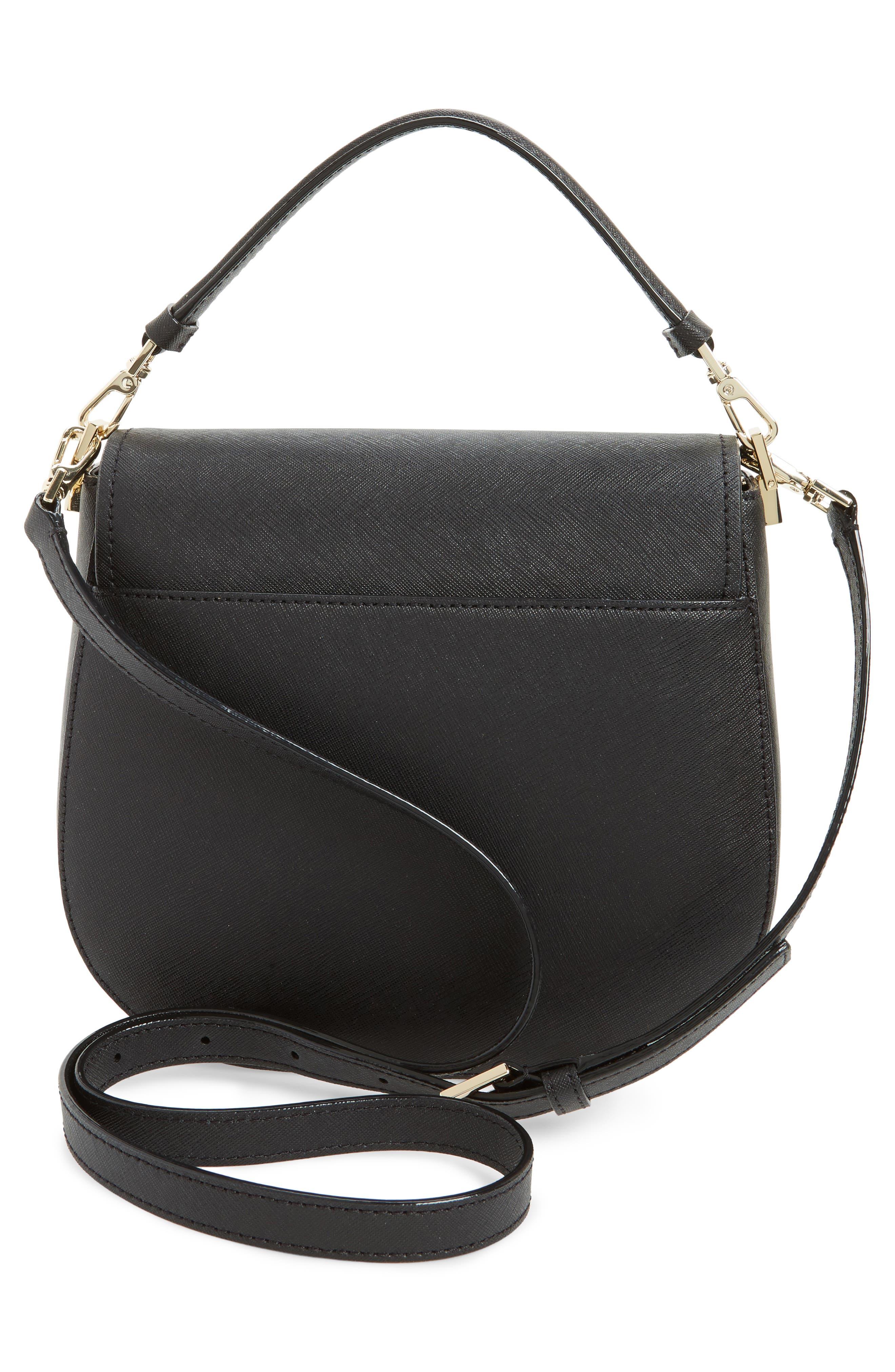 make it mine - byrdie leather saddle bag,                             Alternate thumbnail 2, color,                             Black